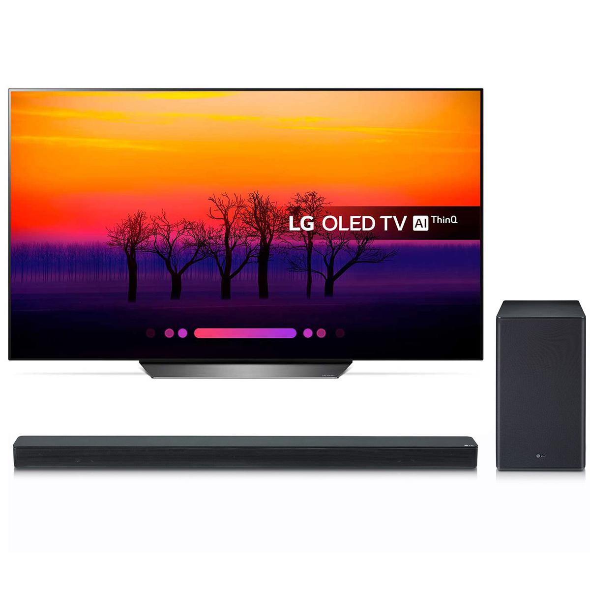 "TV LG OLED65B8 + SK8 Téléviseur OLED 4K 65"" (165 cm) 16/9 - 3840 x 2160 pixels - Ultra HD 2160p - HDR - Wi-Fi - Bluetooth - Dolby Atmos + Barre de son 2.1 360 Watts"