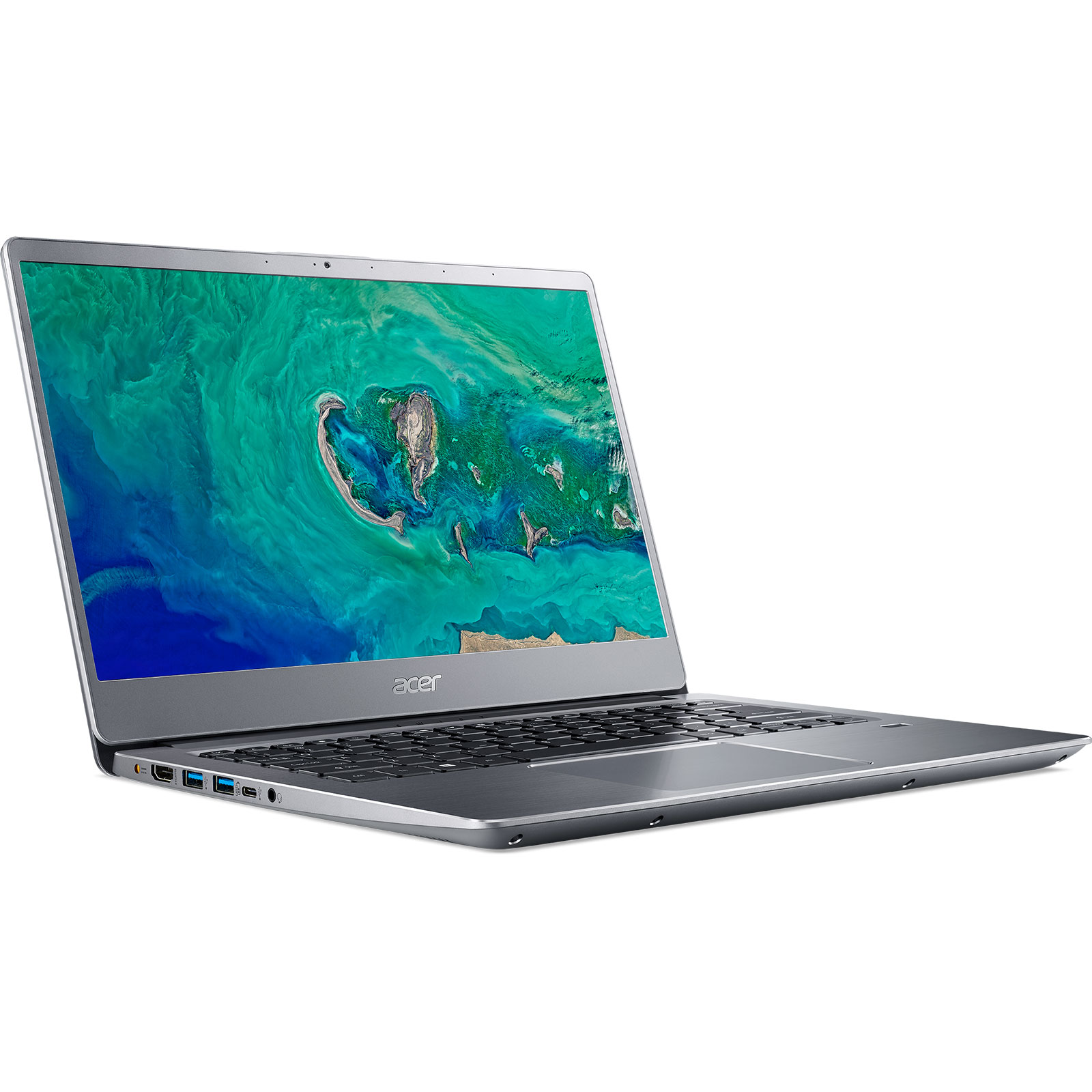 "PC portable Acer Swift 3  SF314-54-38VD Gris Intel Core i3-7020U 4 Go SSD 128 Go 14"" LED Full HD Wi-Fi AC/Bluetooth Webcam Windows 10 Famille 64 bits"