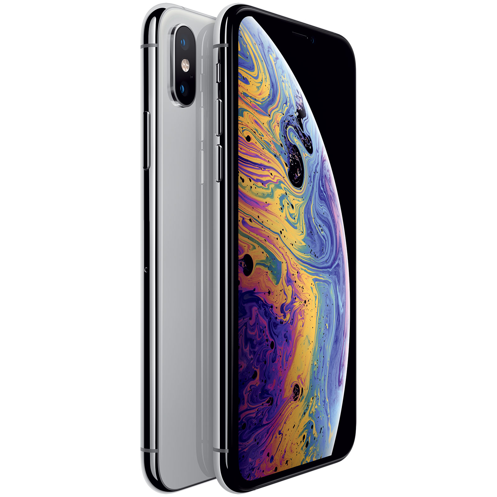 "Mobile & smartphone Apple iPhone Xs 64 Go Argent Smartphone 4G-LTE Advanced IP68 Dual SIM - Apple A12 Bionic Hexa-Core - RAM 4 Go - Ecran Super Retina 5.8"" 1125 x 2436 - 64 Go - NFC/Bluetooth 5.0 - iOS 12"