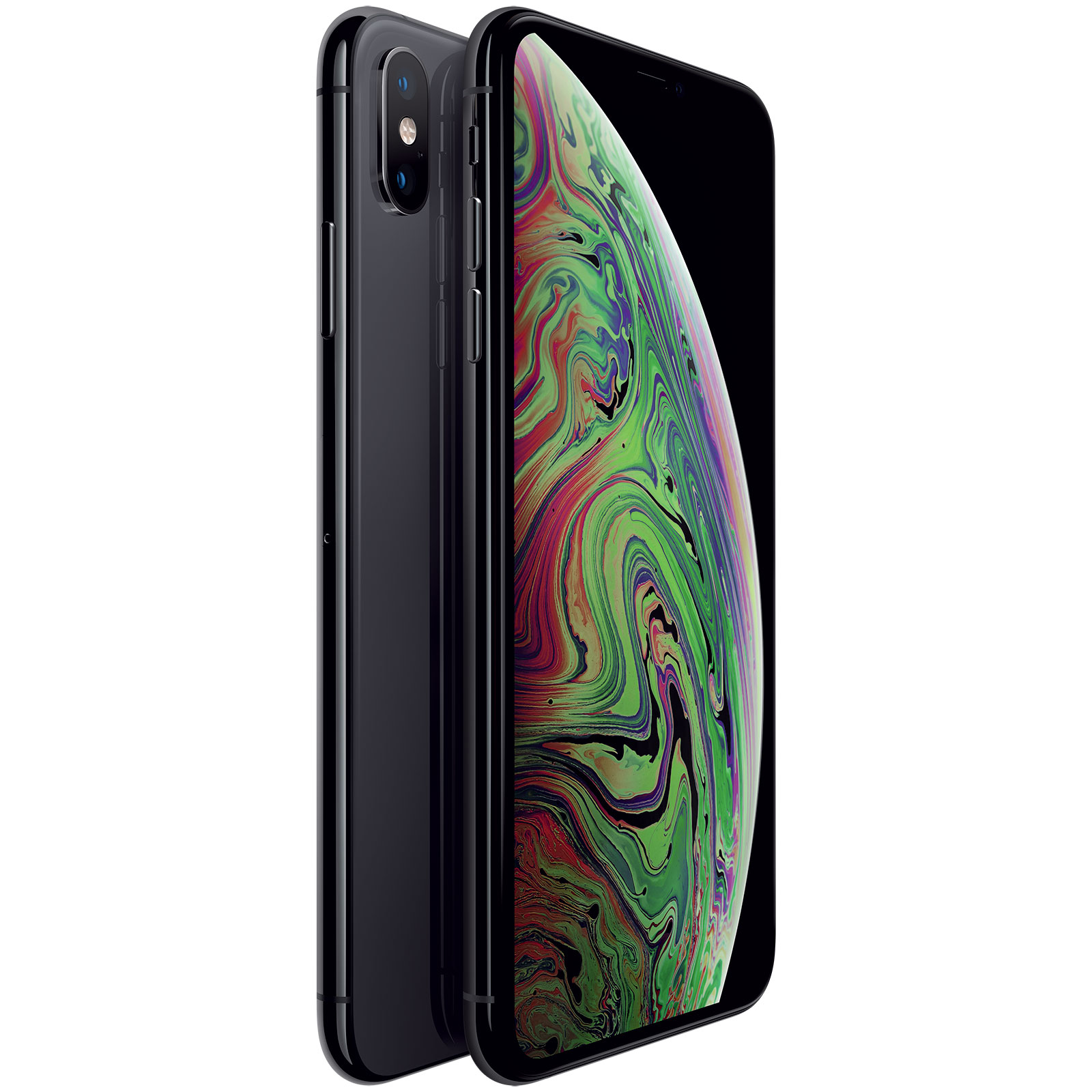 "Mobile & smartphone Apple iPhone Xs Max 64 Go Gris Sidéral Smartphone 4G-LTE Advanced IP68 Dual SIM - Apple A12 Bionic Hexa-Core - RAM 4 Go - Ecran Super Retina 6.5"" 1242 x 2688 - 64 Go - NFC/Bluetooth 5.0 - iOS 12"