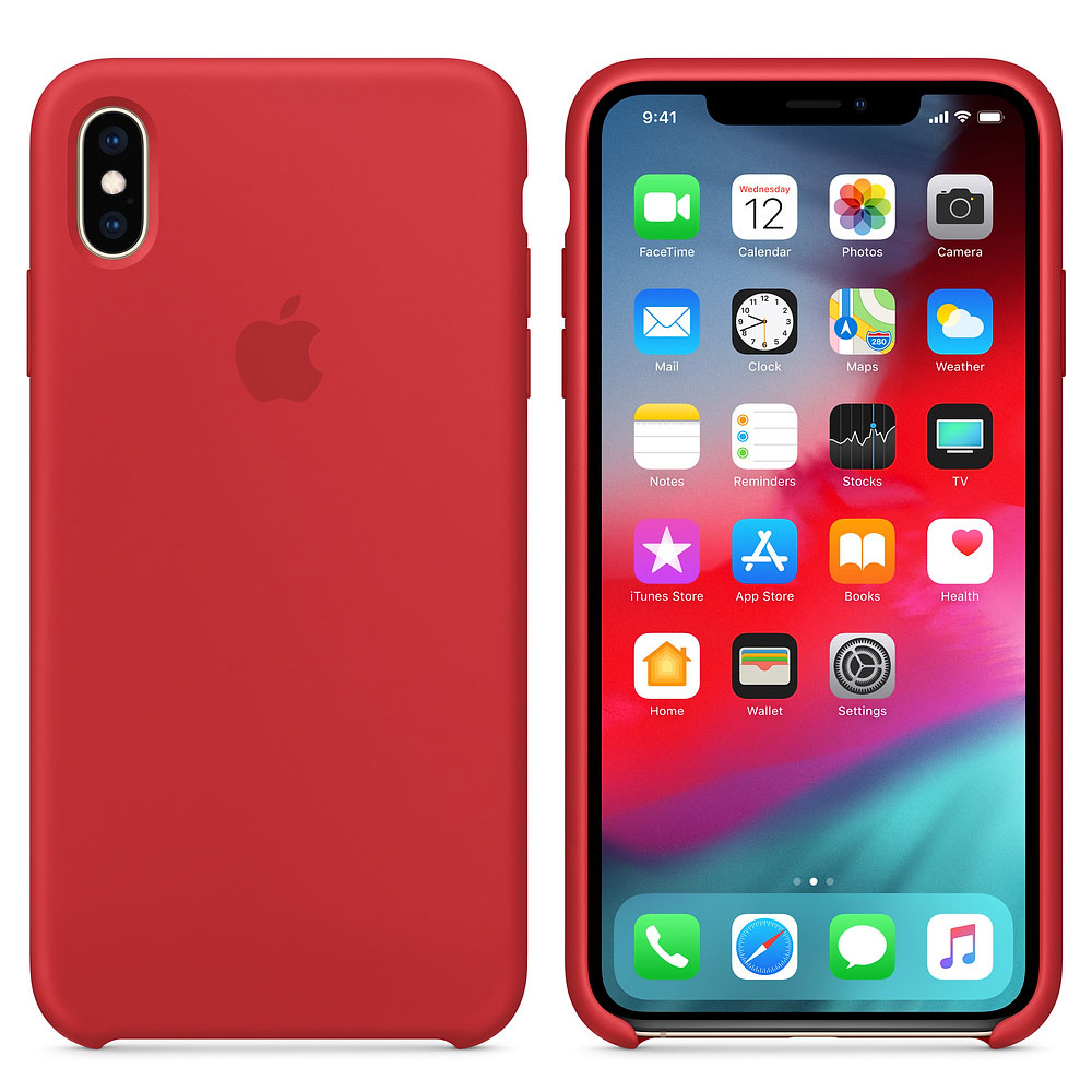 Apple Coque en silicone (PRODUCT)RED Apple iPhone Xs Max Coque en silicone  pour Apple iPhone Xs Max