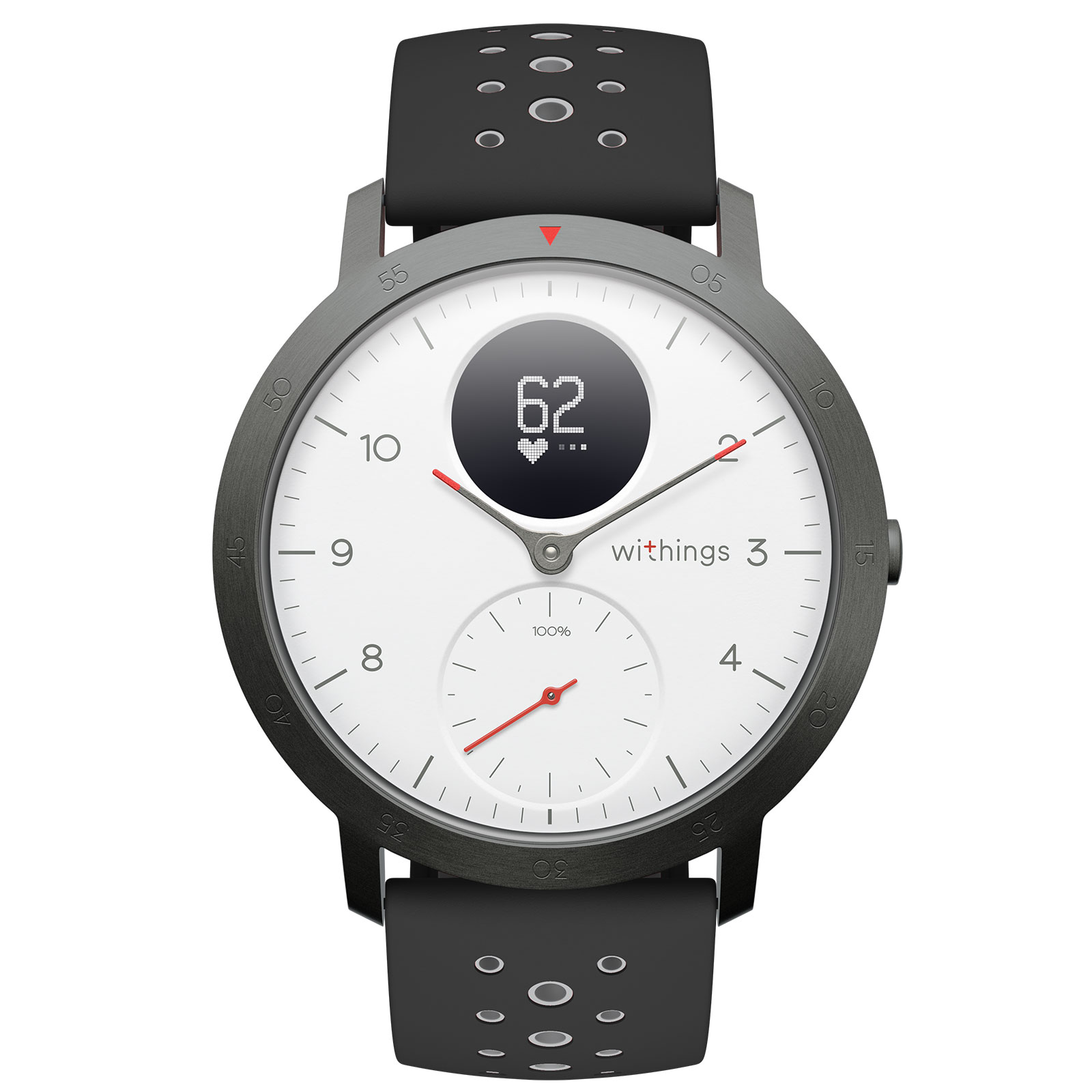 Bracelet connecté Withings Steel HR Sport Blanc Montre connectée étanche avec suivi d'activité, analyse du sommeil, rythme cardiaque, notifications et Bluetooth (iOS et Android)