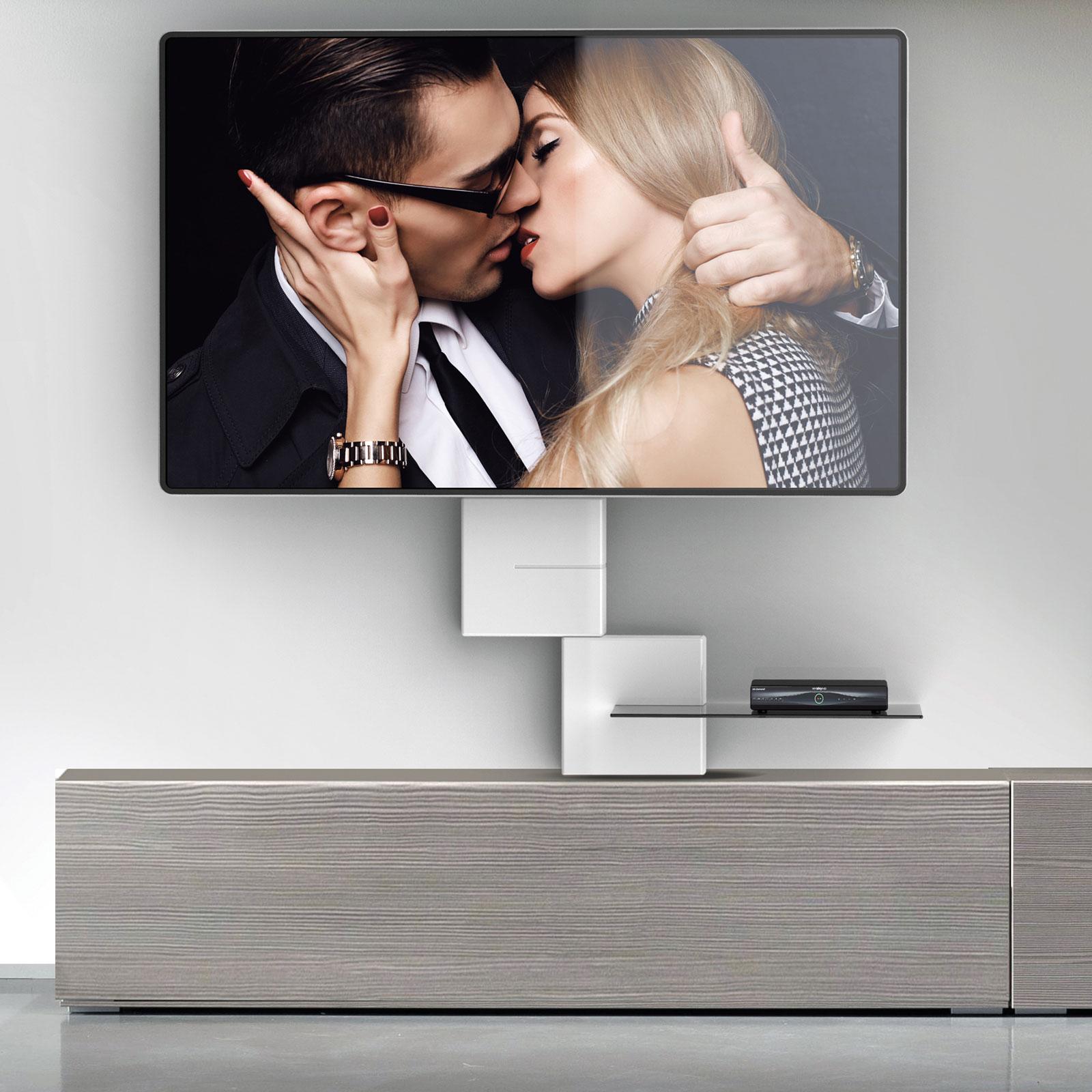 Meliconi Ghost Cube Shelf Blanc Meuble Tv Meliconi Sur Ldlc Com