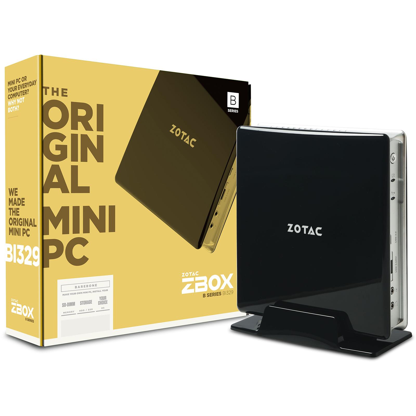 Barebone PC ZOTAC ZBOX BI329 Intel Celeron N4100 Intel UHD Graphics (sans écran/mémoire/disque dur)