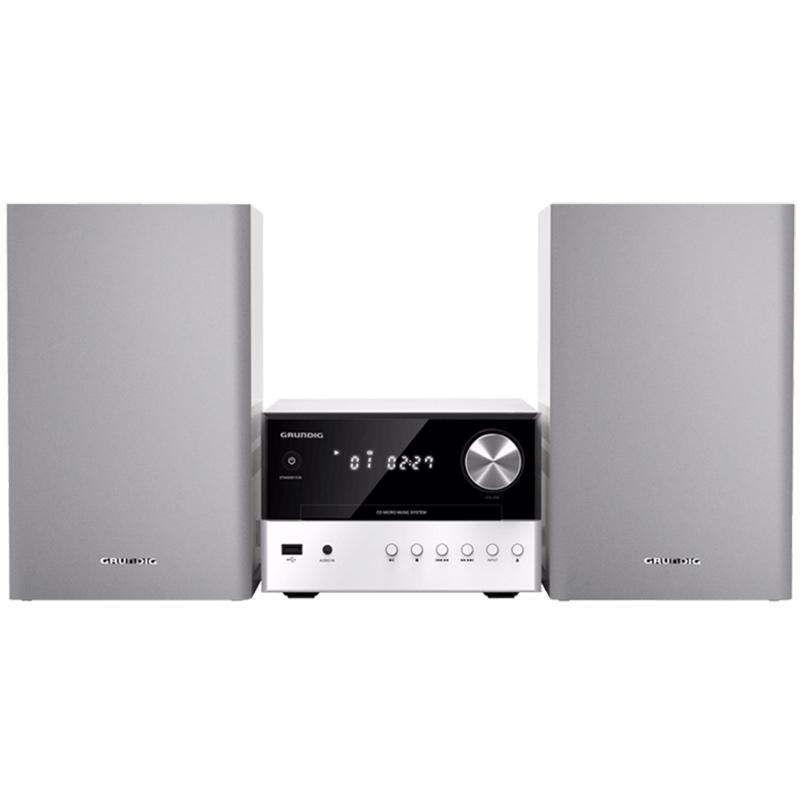 Chaîne Hifi Grundig M1000BT Blanc Micro-chaîne CD/CD-R/CD-RW MP3 Bluetooth avec port USB 2.0 et entrée auxiliaire