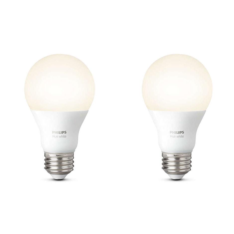 philips hue white e27 x 2 ampoule connect e philips sur. Black Bedroom Furniture Sets. Home Design Ideas