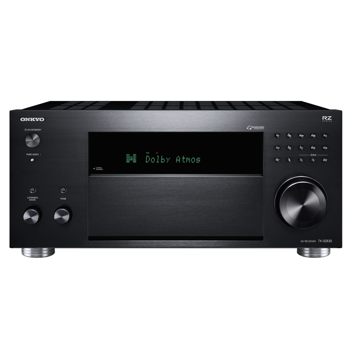 Ampli home cinéma Onkyo TX-RZ830 Noir Ampli-tuner Home Cinéma 9.2 - 180 Watts - THX - Wi-Fi/Bluetooth - Dolby Atmos - DTS:X - Multiroom - 4K/60p - HDCP 2.2 - AirPlay/Chromecast - Hi-Res Audio - 7 entrées HDMI
