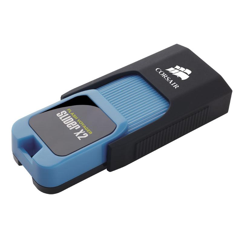 Clé USB Corsair Flash Voyager Slider X2 USB 3.0 128 Go Clé USB 3.0 128 Go (garantie constructeur 5 ans)