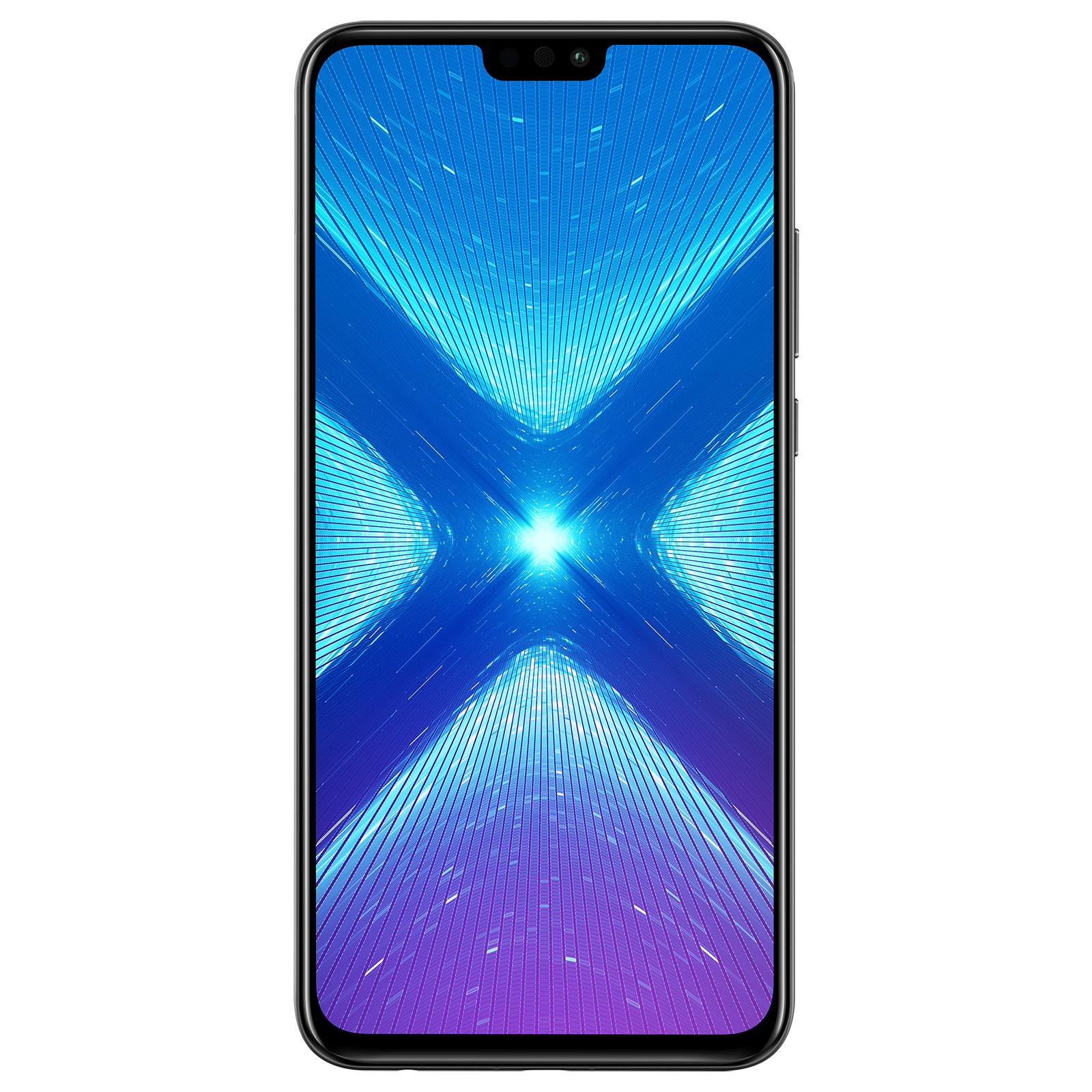 "Mobile & smartphone Honor 8X Noir (4 Go / 64 Go) Smartphone 4G-LTE Advanced Dual SIM - Kirin 710 8-Core 2.2 Ghz - RAM 4 Go - Ecran tactile 6.5"" 1080 x 2340 - 64 Go - Bluetooth 4.2 - 3750 mAh - Android 8.1"