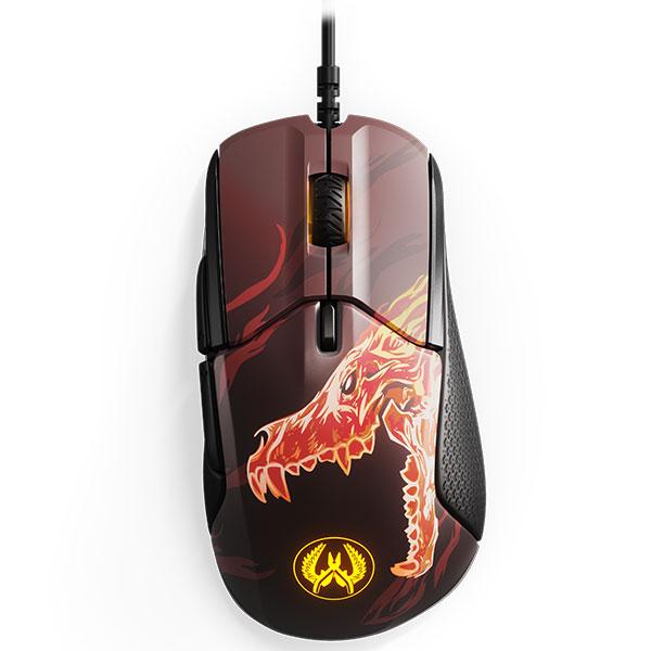 Souris PC SteelSeries Rival 310 (CS:GO Howl Edition) Souris filaire pour gamer - droitier - capteur optique 12000 dpi - 6 boutons programmables - rétro-éclairage RGB