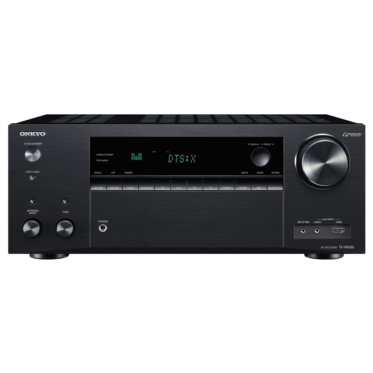 Ampli home cinéma Onkyo TX-NR686E Noir Ampli-tuner Home Cinéma 7.2 - 165 Watts - THX - Wi-Fi/Bluetooth - Dolby Atmos - DTS:X - Multiroom - 4K/60p - HDCP 2.2 - AirPlay/Chromecast - Hi-Res Audio - 7 entrées HDMI
