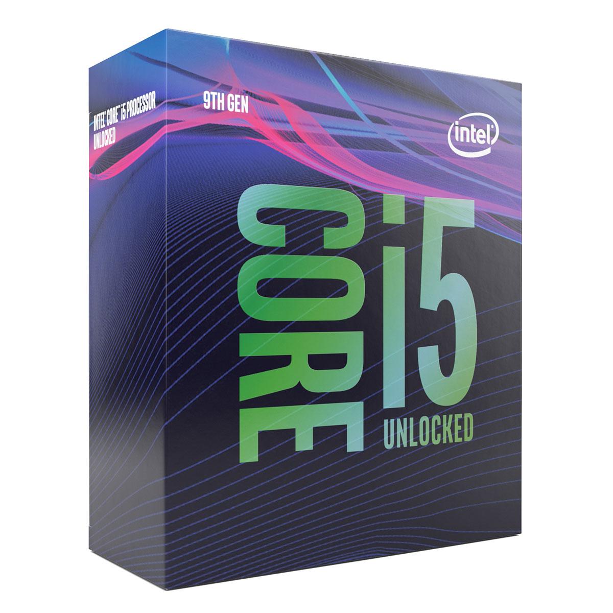 Processeur Intel Core i5-9600K (3.7 GHz / 4.6 GHz) Processeur 6-Core Socket 1151 Cache L3 9 Mo Intel UHD Graphics 630 0.014 micron (version boîte sans ventilateur - garantie Intel 3 ans)