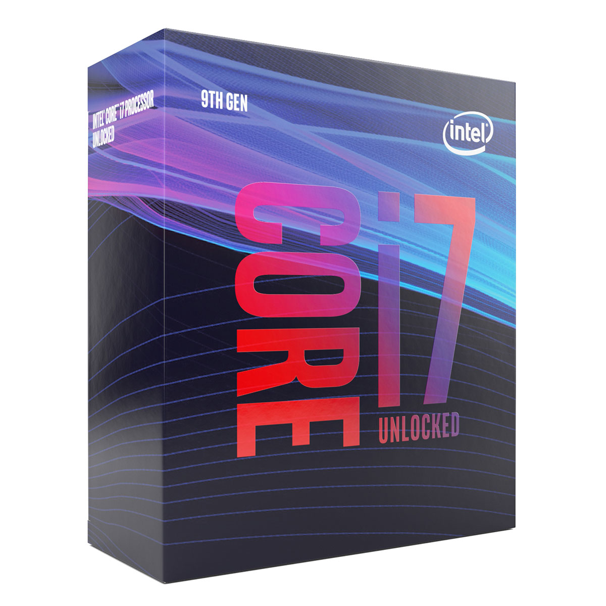 Processeur Intel Core i7-9700K (3.6 GHz / 4.9 GHz) Processeur 8-Core Socket 1151 Cache L3 12 Mo Intel UHD Graphics 630 0.014 micron (version boîte sans ventilateur - garantie Intel 3 ans)
