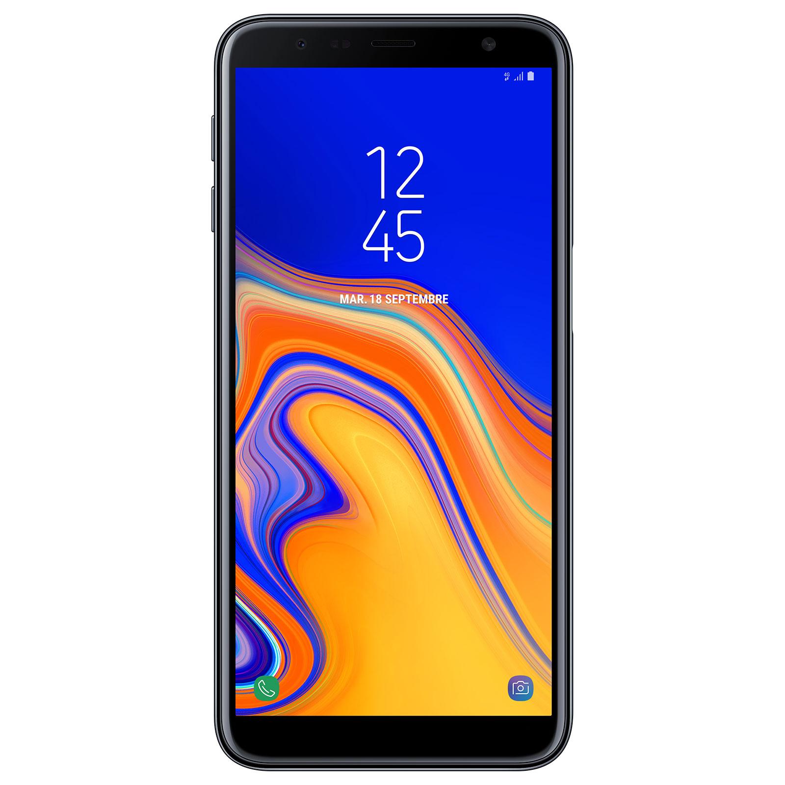 "Mobile & smartphone Samsung Galaxy J6+ Noir Smartphone 4G-LTE Dual SIM - Snapdragon 425 Quad-Core 1.4 Ghz - RAM 3 Go - Ecran tactile 6"" 720 x 1480 - 32 Go - NFC/Bluetooth 4.2 - 3300 mAh - Android 8.1"