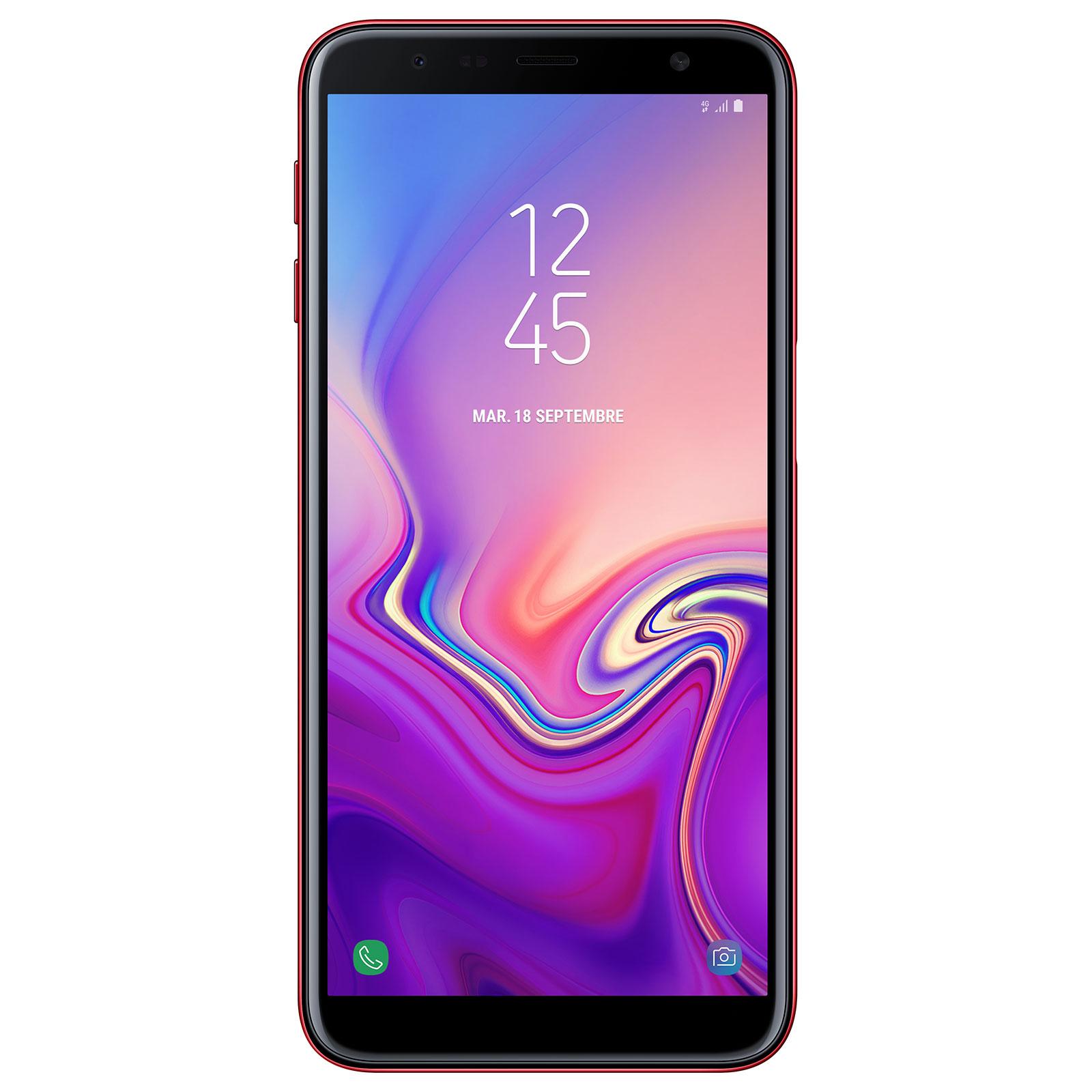 "Mobile & smartphone Samsung Galaxy J6+ Rouge Smartphone 4G-LTE Dual SIM - Snapdragon 425 Quad-Core 1.4 Ghz - RAM 3 Go - Ecran tactile 6"" 720 x 1480 - 32 Go - NFC/Bluetooth 4.2 - 3300 mAh - Android 8.1"