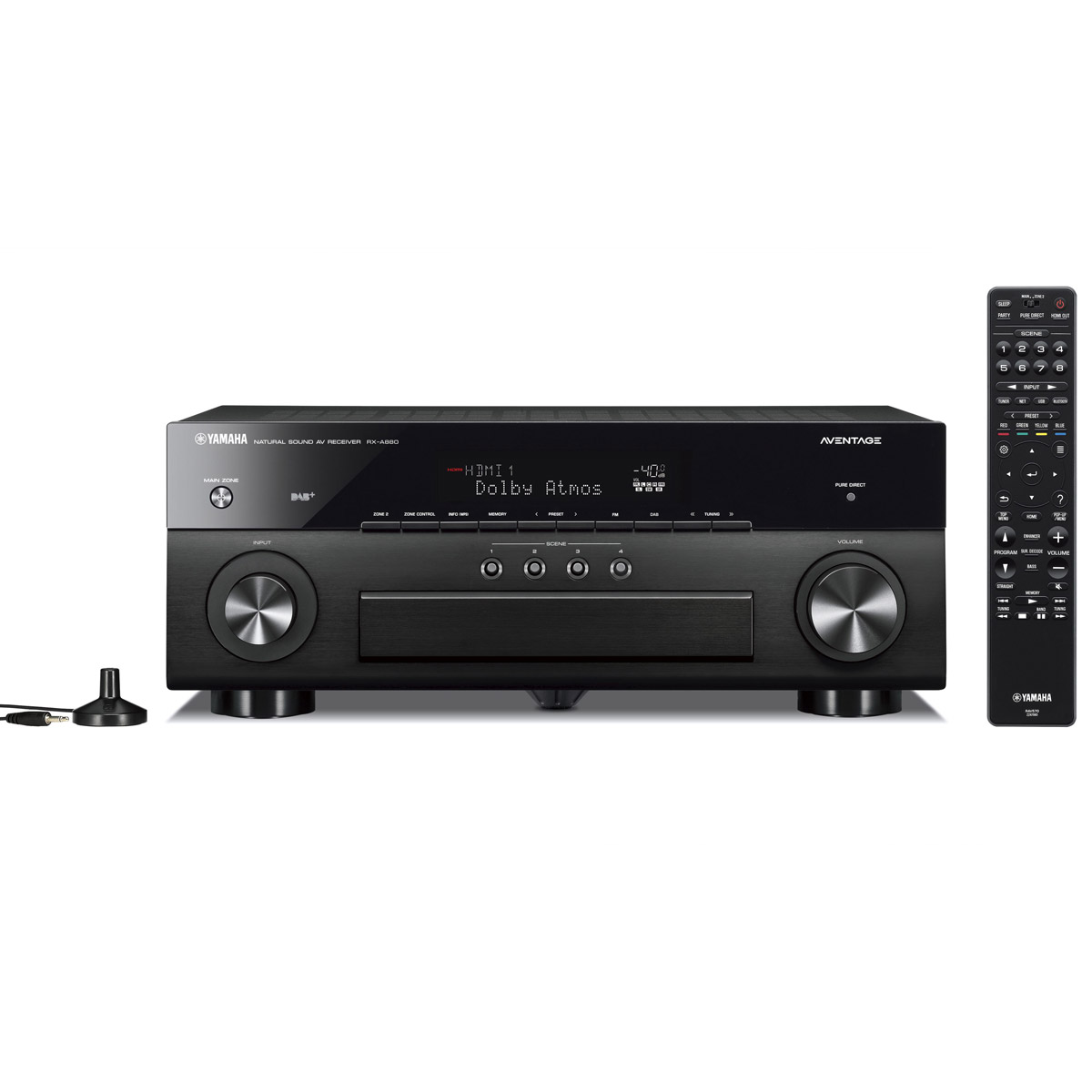 Ampli home cinéma Yamaha RX-A880 Noir Ampli-tuner Home Cinéma 7.2 3D 100W/canal - Dolby Atmos/DTS:X - 7x HDMI - HDCP 2.2 Ultra HD 4K - Wi-Fi/Bluetooth/DLNA/AirPlay - MusicCast/MusicCast Surround - A.R.T. Wedge - Calibration YPAO RSC