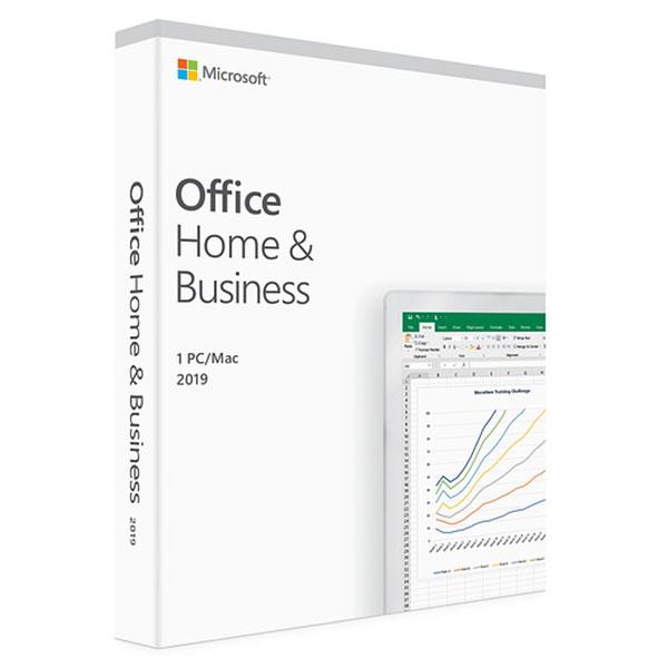 Logiciel bureautique Microsoft Office Famille et Petite Entreprise 2019 Licence 1 utilisateur pour 1 PC ou Mac (carte d'activation)