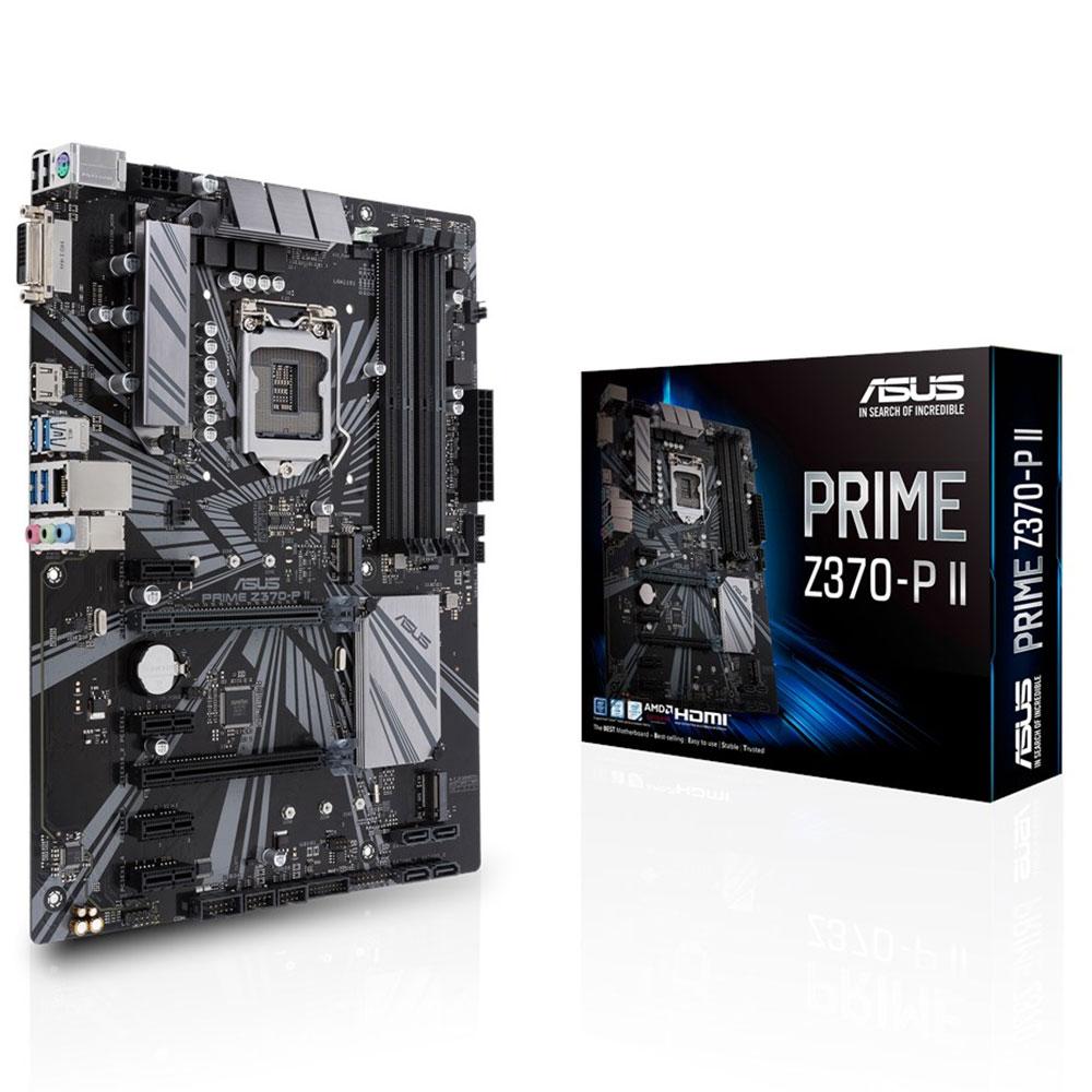 Carte mère ASUS PRIME Z370-P II Carte mère ATX Socket 1151 Intel Z370 Express - 4x DDR4 - SATA 6Gb/s + M.2 - USB 3.0 - 2x PCI-Express 3.0 16x