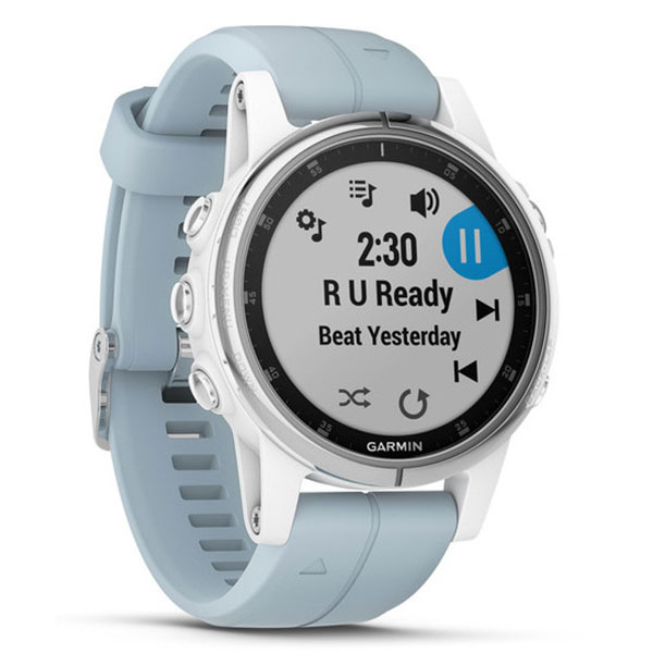 garmin fenix 5s plus argent bleu lagon montre. Black Bedroom Furniture Sets. Home Design Ideas