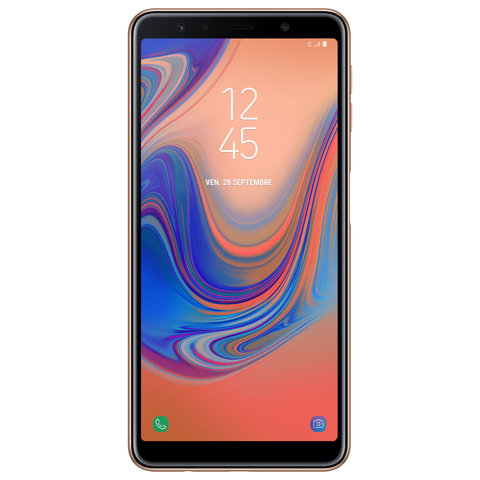 """Mobile & smartphone Samsung Galaxy A7 2018 Or Smartphone 4G-LTE Advanced Dual SIM - Exynos 7885 Octo-Core 2.2 Ghz - RAM 4 Go - Ecran tactile 6"""" 1080 x 2220 - 64 Go - NFC/Bluetooth 4.2 - 3300 mAh - Android 8.0"""