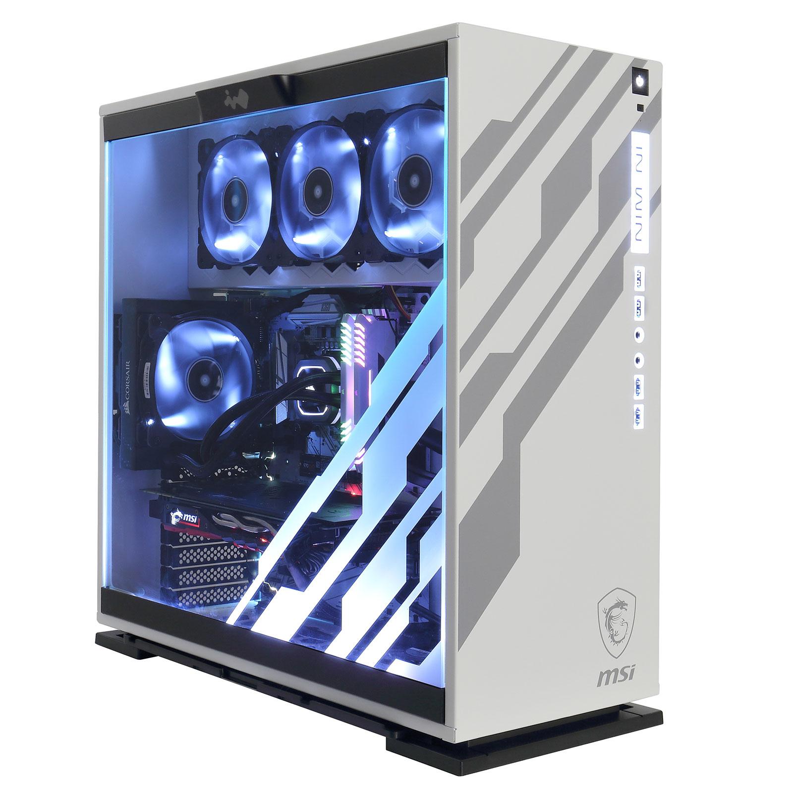 PC de bureau LDLC PC Macchiato Artic Refresh Intel Core i5-9600K (3.7 GHz) 16 Go SSD NVMe 240 Go + HDD 1 To NVIDIA GeForce RTX 2070 8 Go (sans OS - monté)