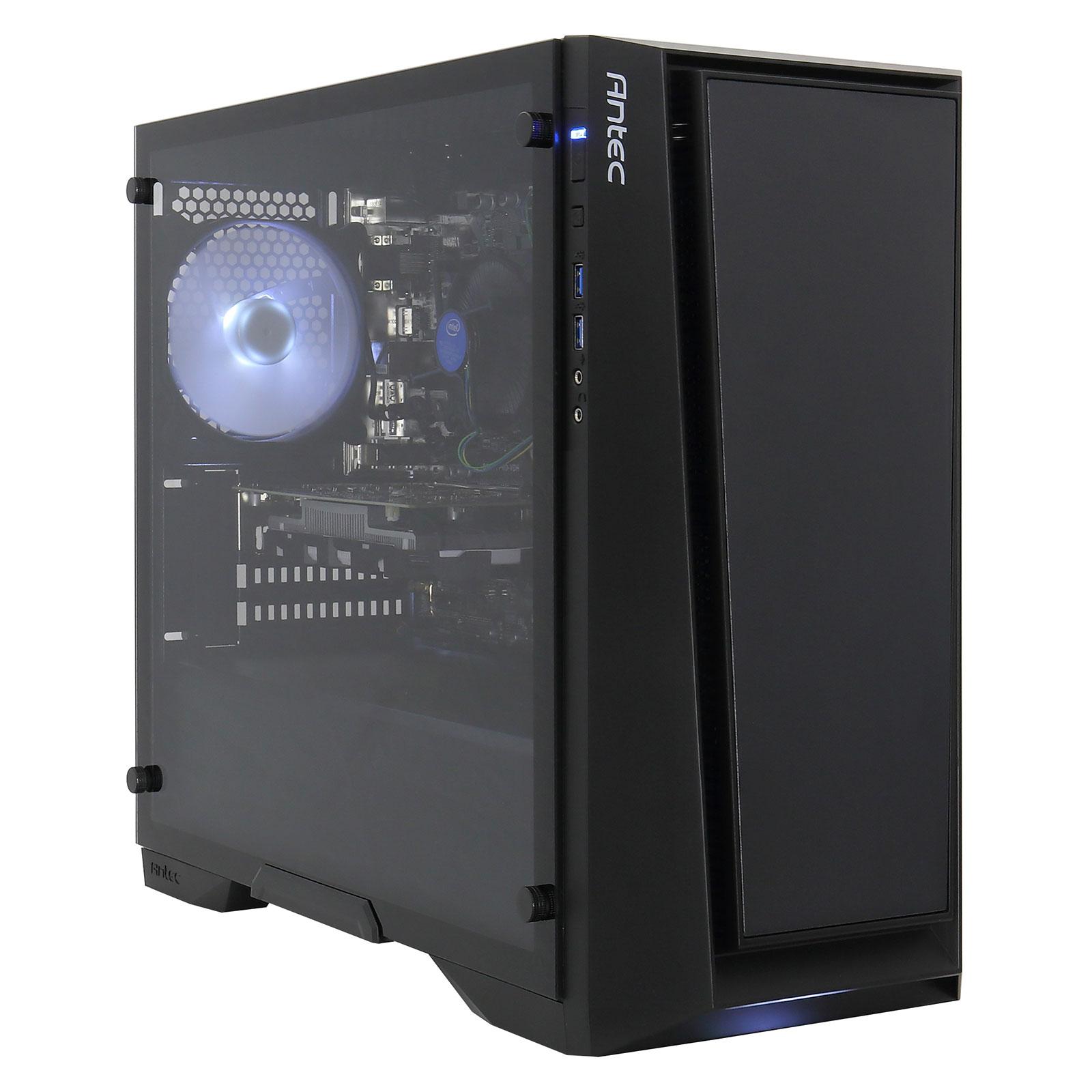 PC de bureau LDLC PC10 Battlebox Mini Intel Core i5-8400 (2.8 GHz) - DDR4 8 Go - SSD M.2 240 Go -  NVIDIA GTX 1050 Ti 4 Go Windows 10 Famille 64 bits (monté)