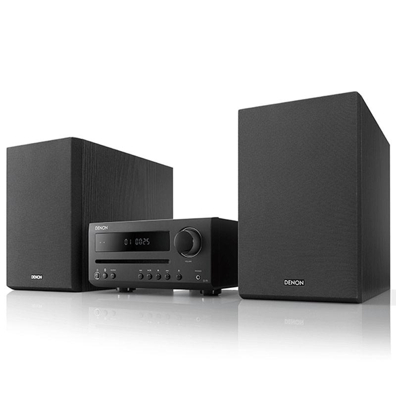 Chaîne Hifi Denon D-T1 Noir Mini-chaîne 2 x 15 Watts avec lecteur CD/CD-R/CD-RW, tuner FM et Bluetooth