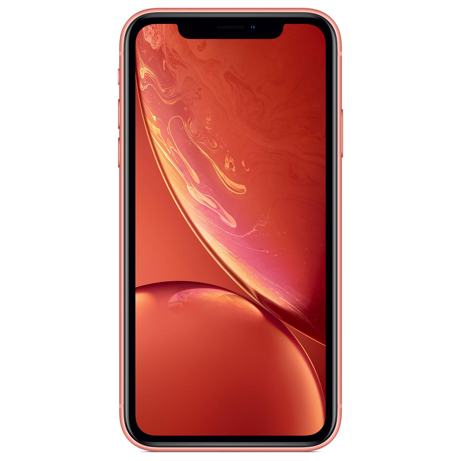 "Mobile & smartphone Apple iPhone XR 128 Go Corail Smartphone 4G-LTE Advanced IP67 Dual SIM - Apple A12 Bionic Hexa-Core - RAM 3 Go - Ecran 6.1"" 828 x 1792 - 128 Go - NFC/Bluetooth 5.0 - iOS 12"