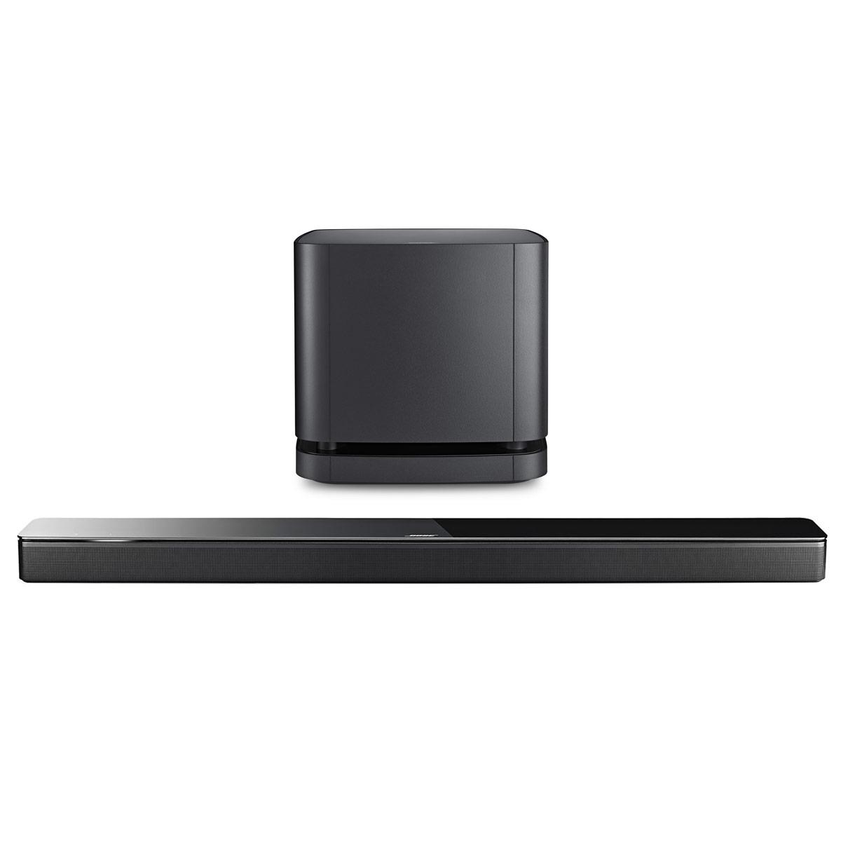 Barre de son Bose Soundbar 700 Noir + Bass Module 500 Noir Barre de son multiroom - Bluetooth - Wi-Fi - Amazon Alexa - Spotify/Deezer - Autocalibration - Télécommande universelle + Module de basses sans fil