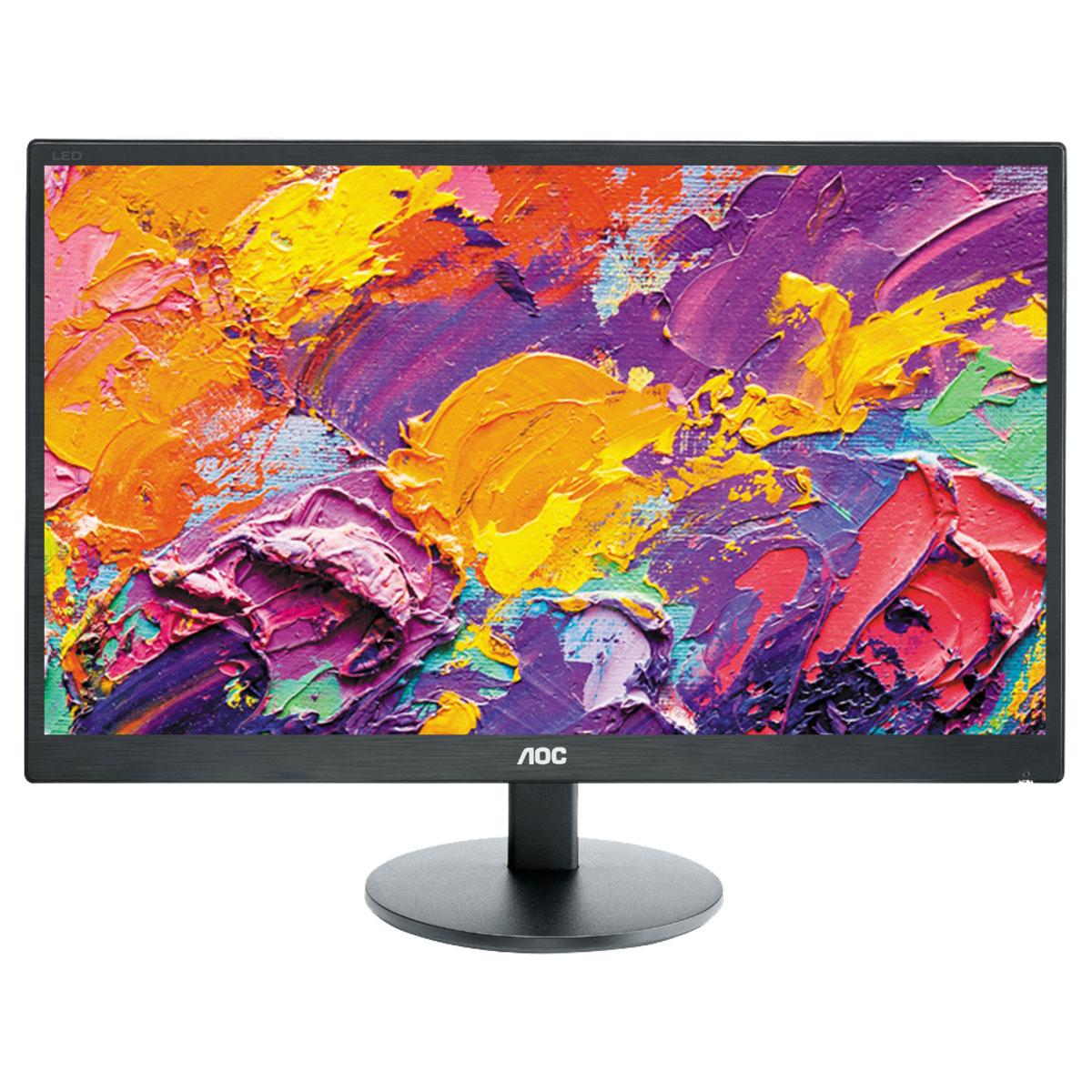 """Ecran PC AOC 21.5"""" LED - E2270SWHN 1920 x 1080 pixels - 5 ms - Format large 16/9 - HDMI - Noir (Garantie constructeur 3 ans)"""