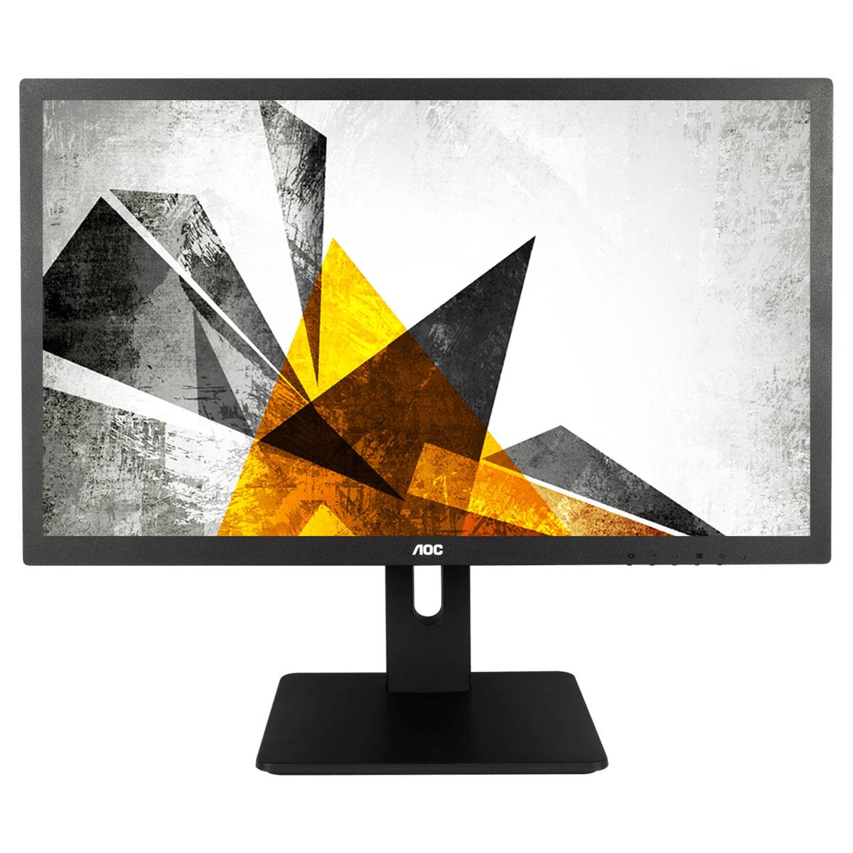 """Ecran PC AOC 21.5"""" LED - E2275PWQU 1920 x 1080 pixels - 2 ms (gris à gris) - Format large 16/9 - Dalle TN - Pivot - DisplayPort - HDMI - USB 3.0 - Noir"""