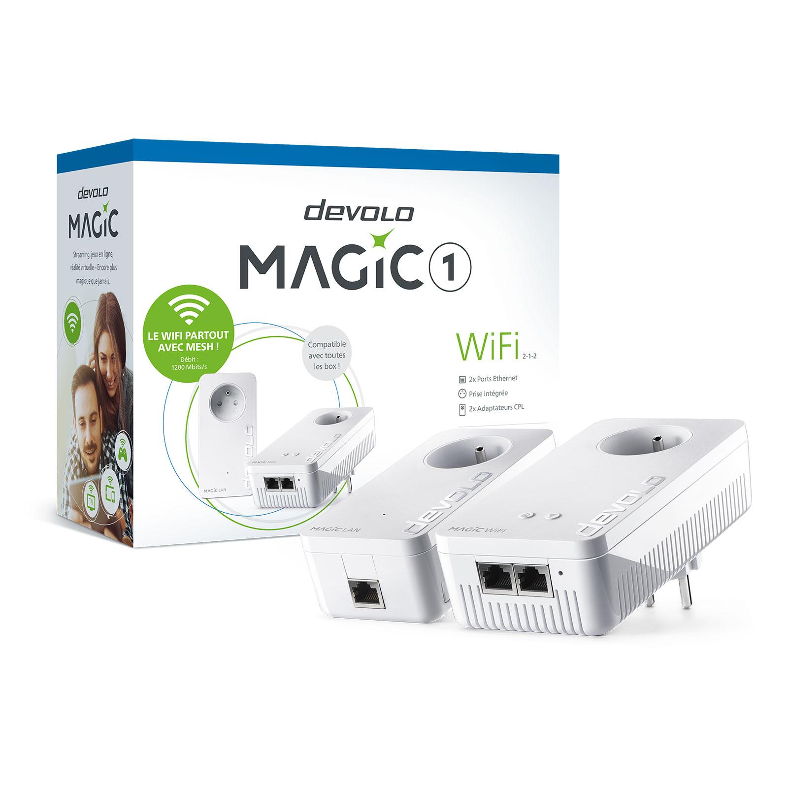 devolo magic 1 wifi kit de d marrage 8360 achat adaptateur cpl devolo ag pour. Black Bedroom Furniture Sets. Home Design Ideas