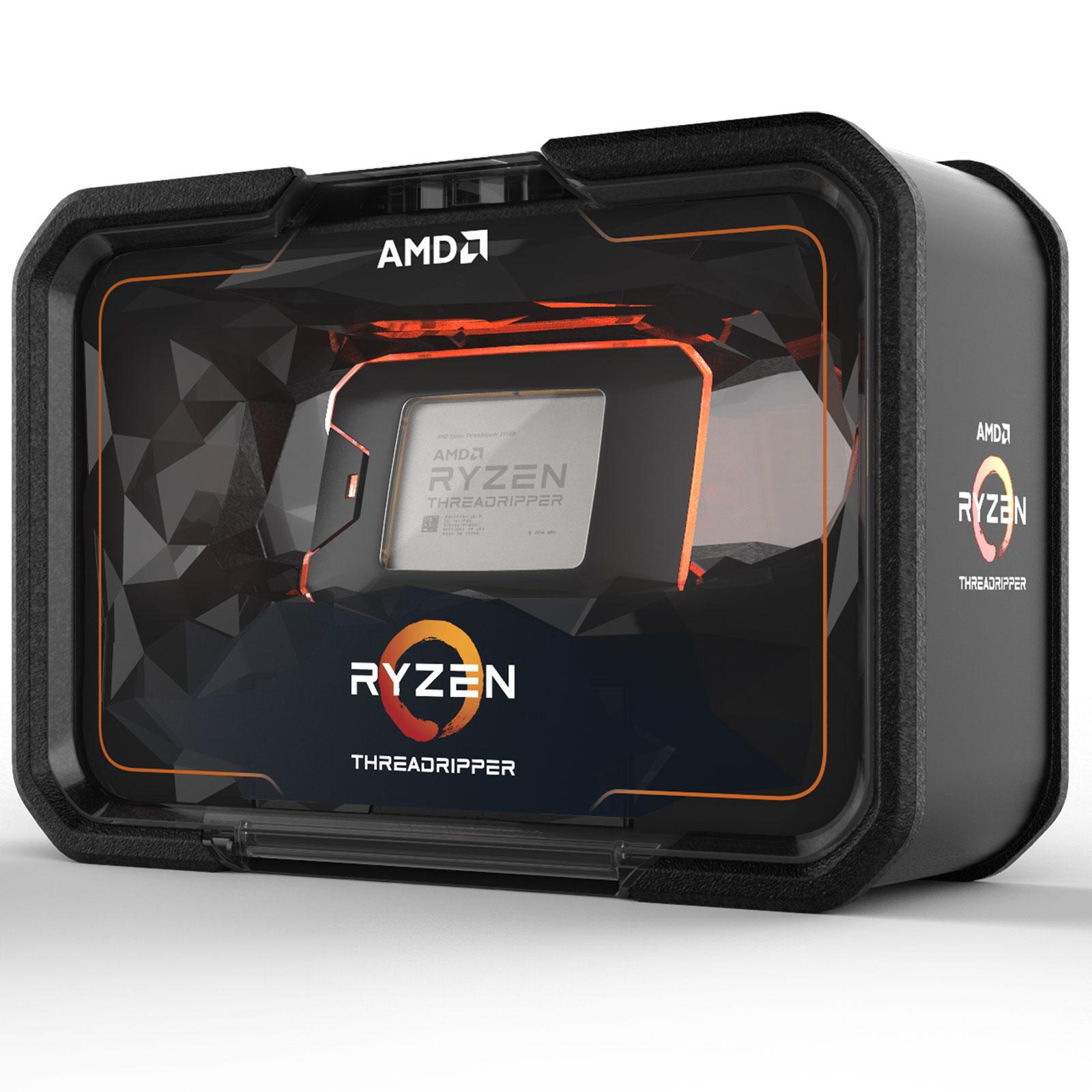 Processeur AMD Ryzen Threadripper 2970WX (3 GHz) Processeur 24-Core Socket sTR4 Cache L3 64 Mo 0.012 micron TDP 250W (version boîte sans ventilateur - garantie constructeur 3 ans)
