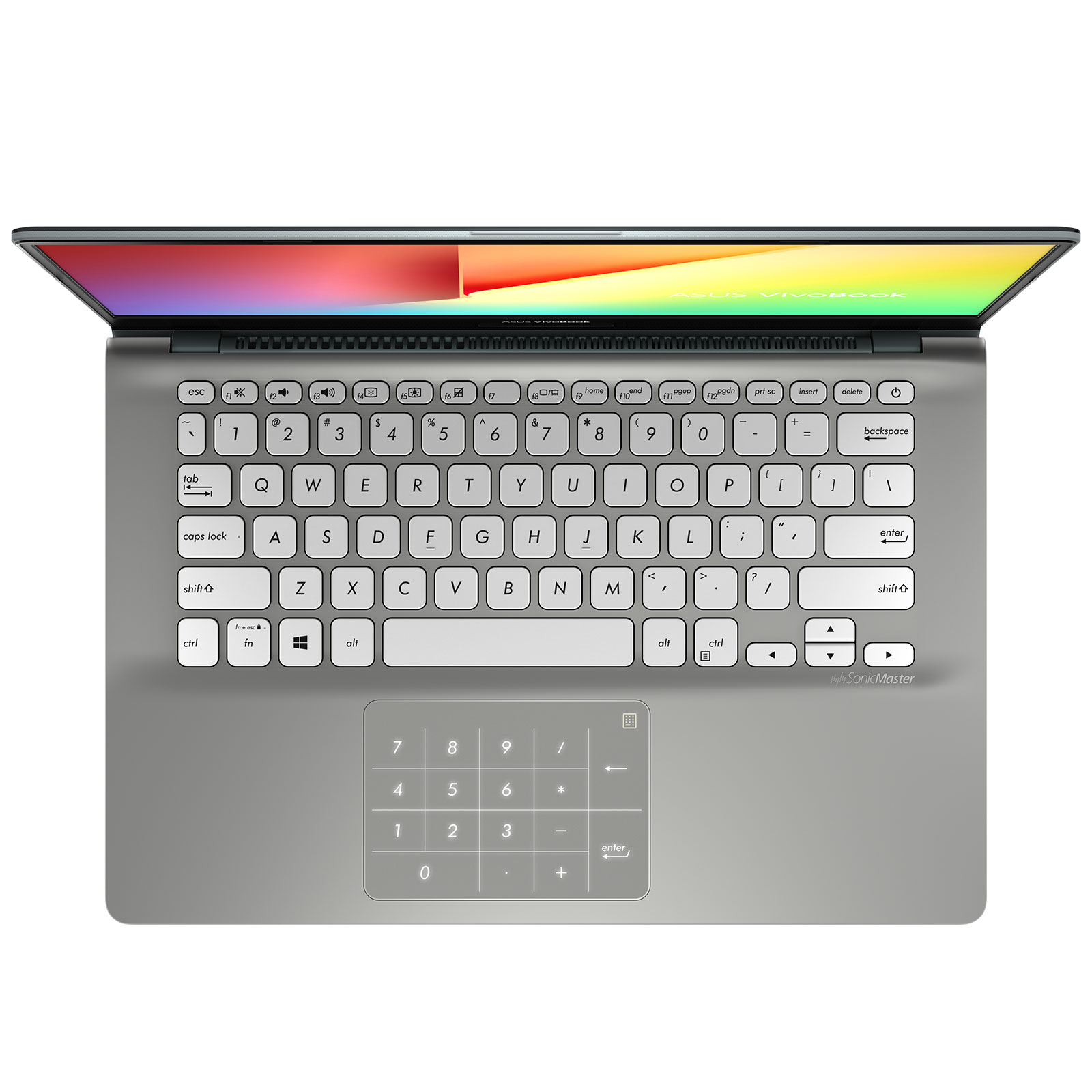 "PC portable ASUS Vivobook S14 S430UAN-EB156T avec NumPad Intel Core i5-8250U 6 Go SSD 128 Go + HDD 1 To 14"" LED Full HD Wi-Fi AC/Bluetooth Webcam Windows 10 Famille 64 bits (garantie constructeur 2 ans)"