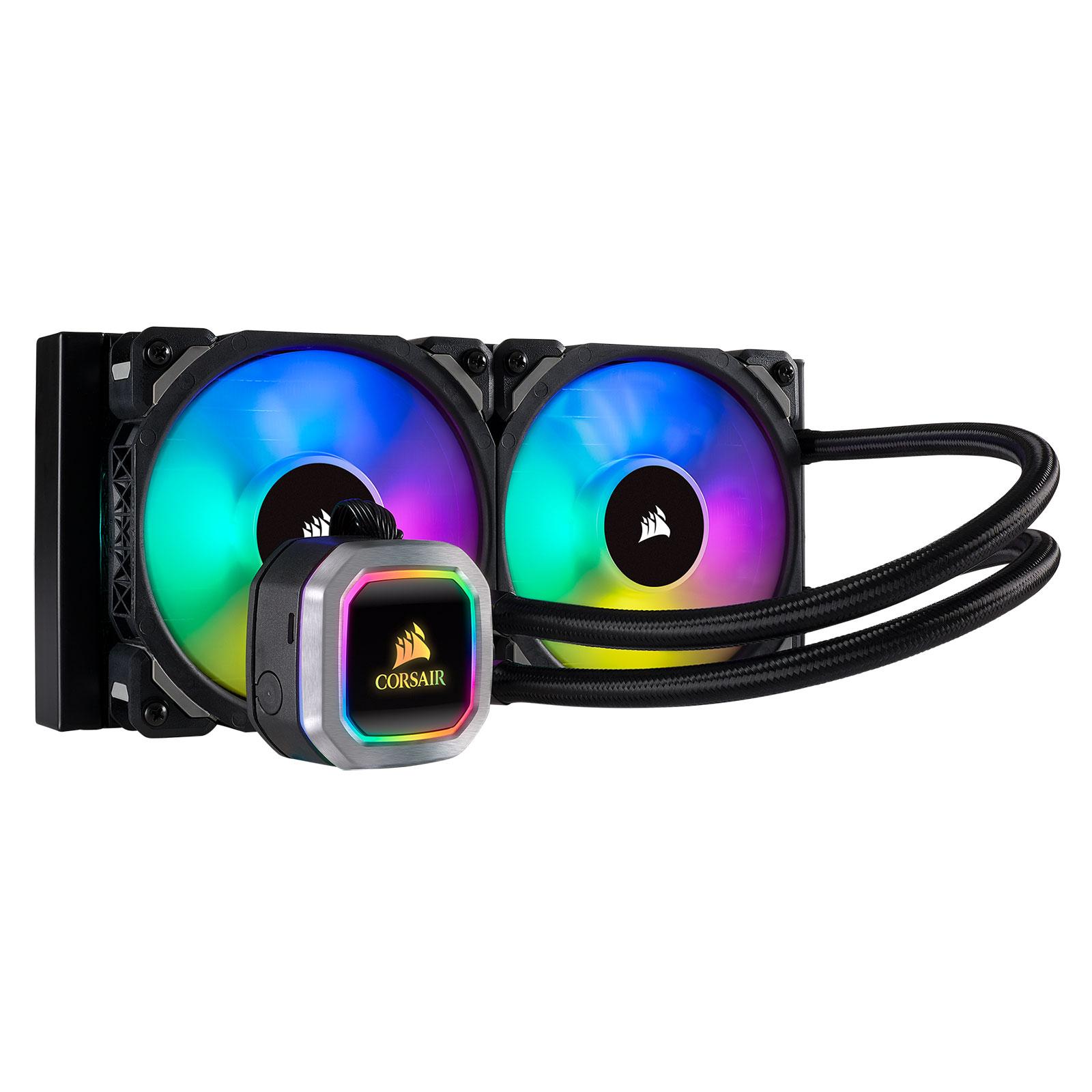 Ventilateur processeur Corsair Hydro Series H100i PLATINUM Kit de refroidissement pour processeur avec éclairage LED RGB