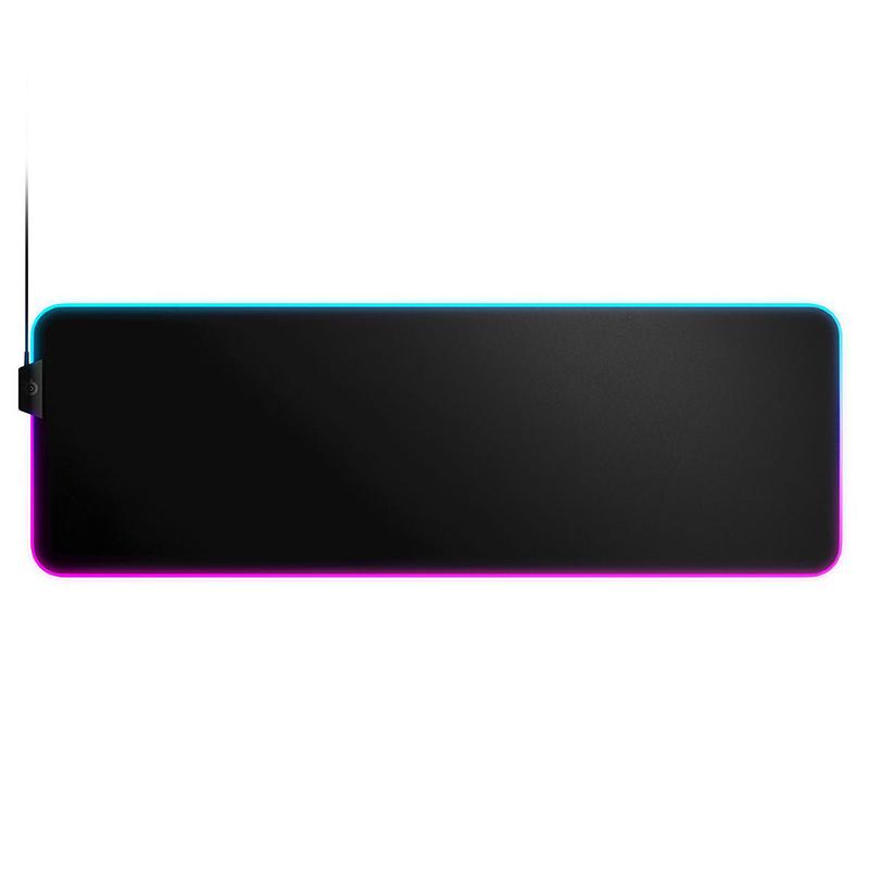 Tapis de souris SteelSeries QcK Prism Cloth (Extra Large) Tapis de souris gaming - souple - surface en tissu - base antidérapante en caoutchouc - rétro-éclairage RGB - format très large (900 x 300 x 4 mm)