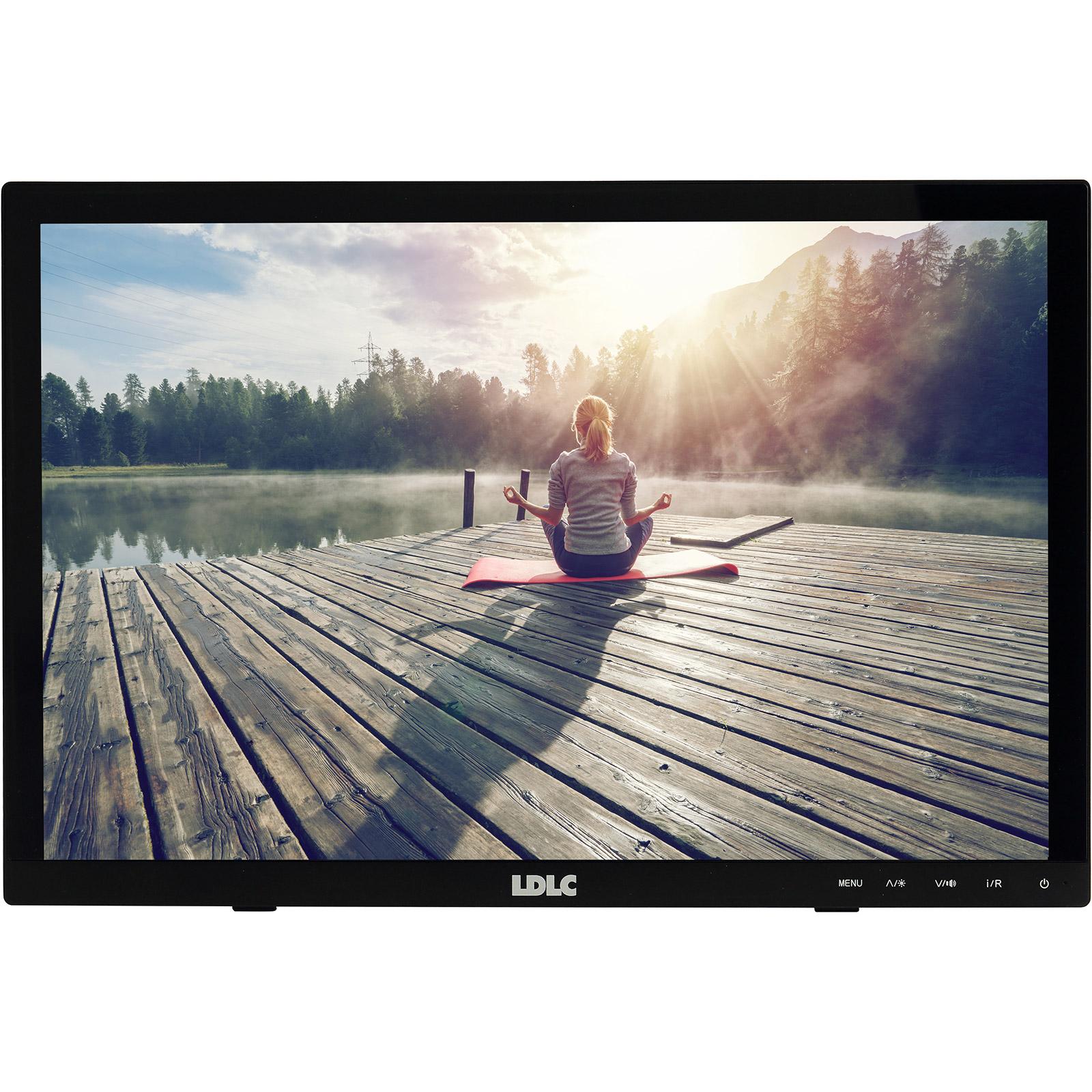"""Ecran PC LDLC 15.6"""" LED Tactile - Pro Touch 15.6 1366 x 768 pixels - Tactile MultiTouch 10 points - 12 ms (gris à gris) - Format 16/9 - Dalle TN - HDMI - Noir"""