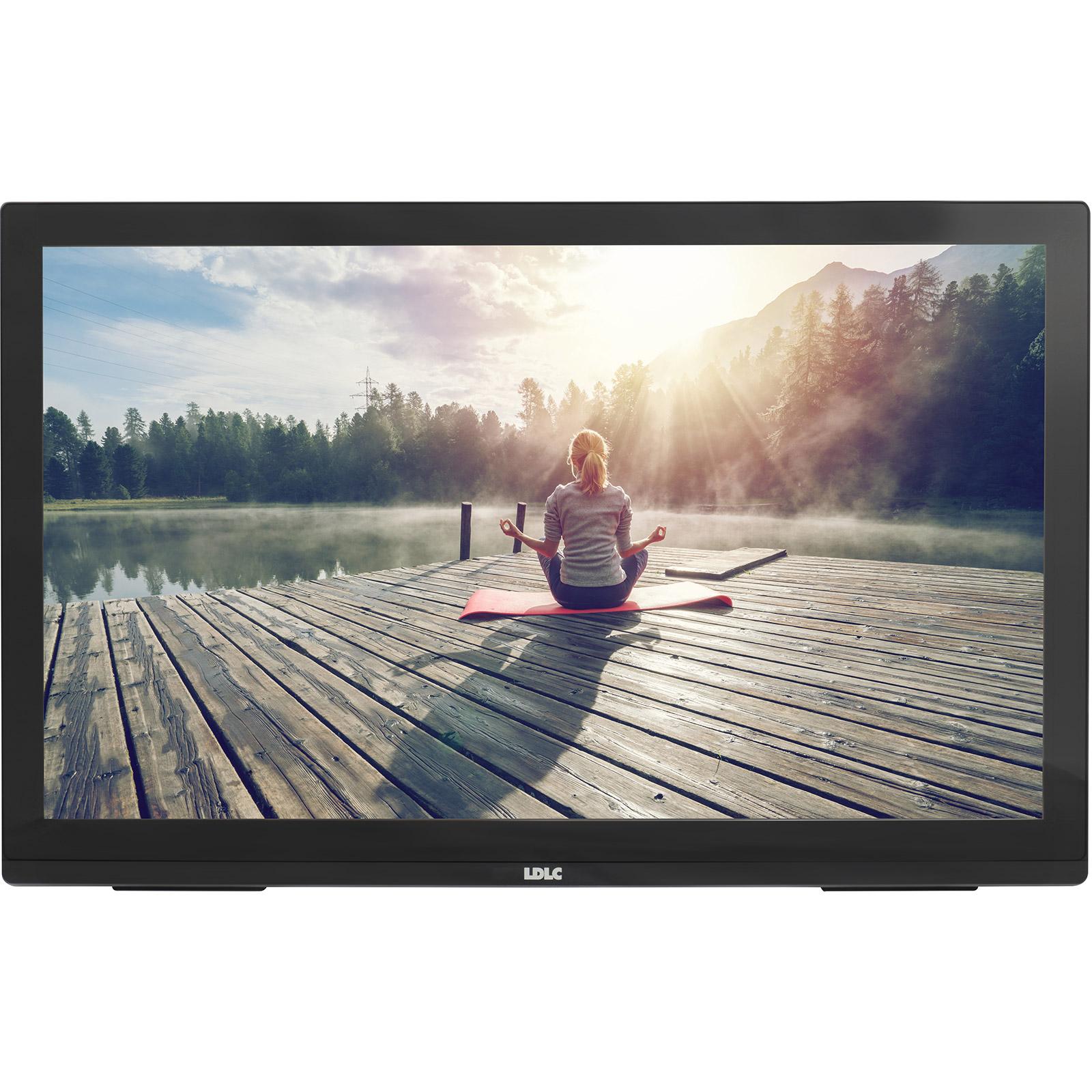"""Ecran PC LDLC 27"""" LED Tactile - Pro Touch 27 1920 x 1080 pixels - Tactile MultiTouch 10 points - 8 ms (gris à gris) - Format 16/9 - Dalle VA - HDMI - Noir"""