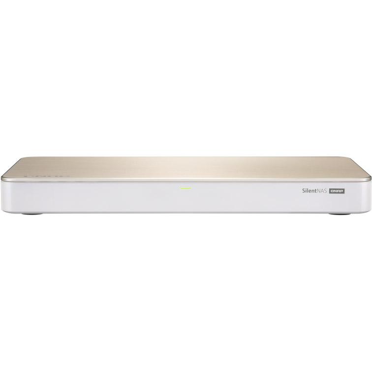 """Serveur NAS QNAP HS-453DX-4G Serveur NAS multimédia sans ventilateur - 4 baies (2 x 3.5"""" + 2 x M.2) - 4 Go DDR4 - Intel Celeron J4105 (sans disque dur)"""