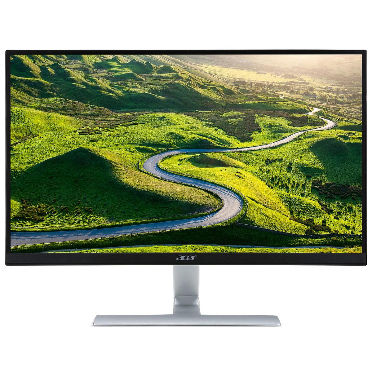 """Ecran PC Acer 27"""" LED - RT270bmid 1920 x 1080 pixels - 4 ms (gris à gris) - Format 16/9 - Dalle IPS - HDMI - Noir (Garantie constructeur 2 ans)"""