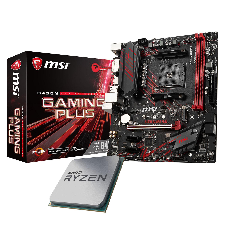 Kit upgrade PC Kit Upgrade PC AMD Ryzen 5 2600X MSI B450M GAMING PLUS Carte mère ATX Socket AM4 AMD B450 + CPU AMD Ryzen 5 2600 (3.6 GHz)