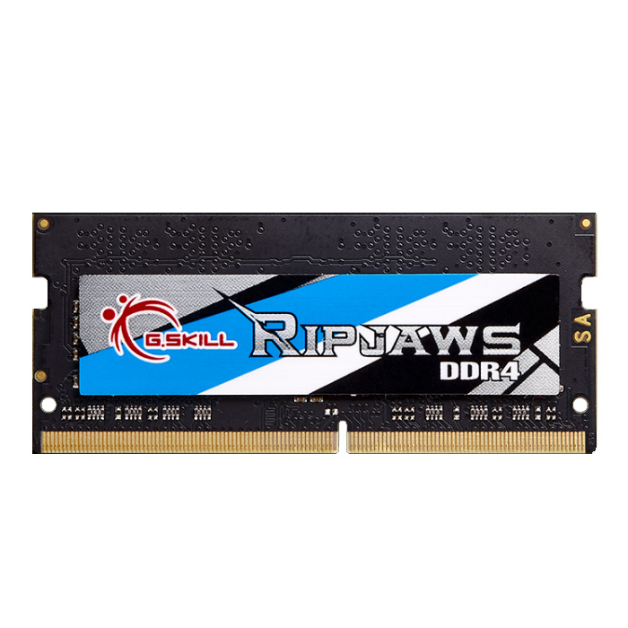 Mémoire PC portable G.Skill RipJaws Series SO-DIMM 8 Go DDR4 2666 MHz CL19 RAM SO-DIMM PC4-21300 - F4-2666C19S-8GRS (garantie à vie par G.Skill)