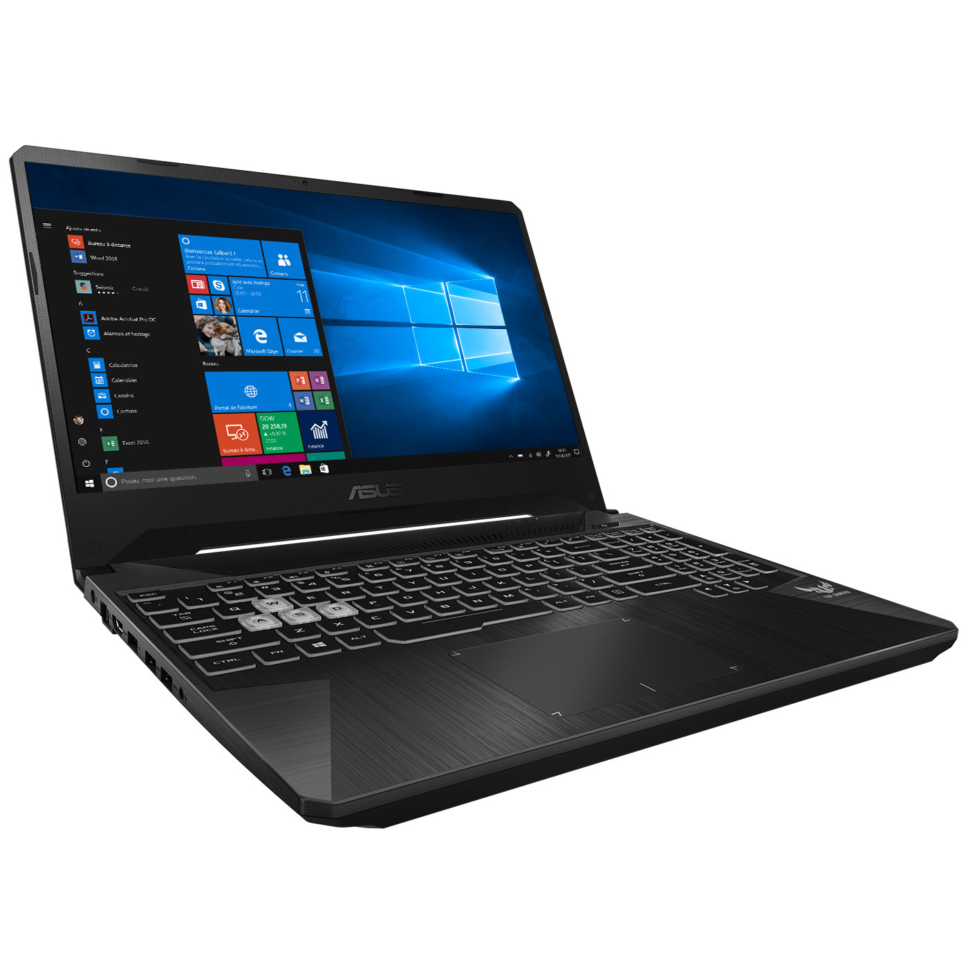 "PC portable ASUS ROG Station PX505GD-BQ106R Intel Core i7-8750H 16 Go SSD 256 Go + HDD 1 To 15.6"" LED Full HD NVIDIA GeForce GTX 1050 4 Go Wi-Fi AC/Bluetooth Webcam Windows 10 Professionnel 64 bits (garantie constructeur 2 ans)"