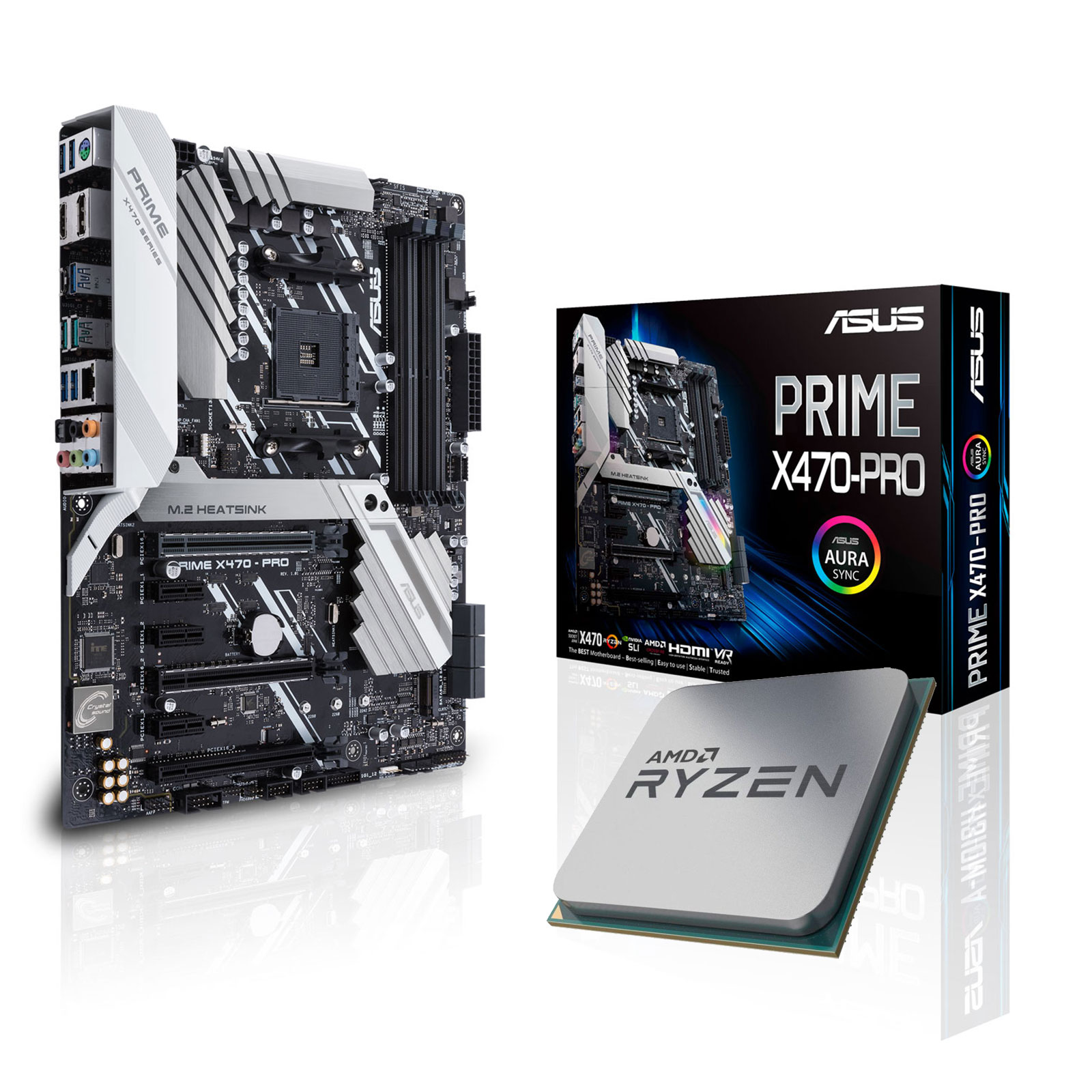 Kit upgrade PC Kit Upgrade PC AMD Ryzen 7 2700X ASUS PRIME X470-PRO Carte mère ATX Socket AM4 AMD X470 + CPU AMD Ryzen 7 2700X (3.7 GHz)
