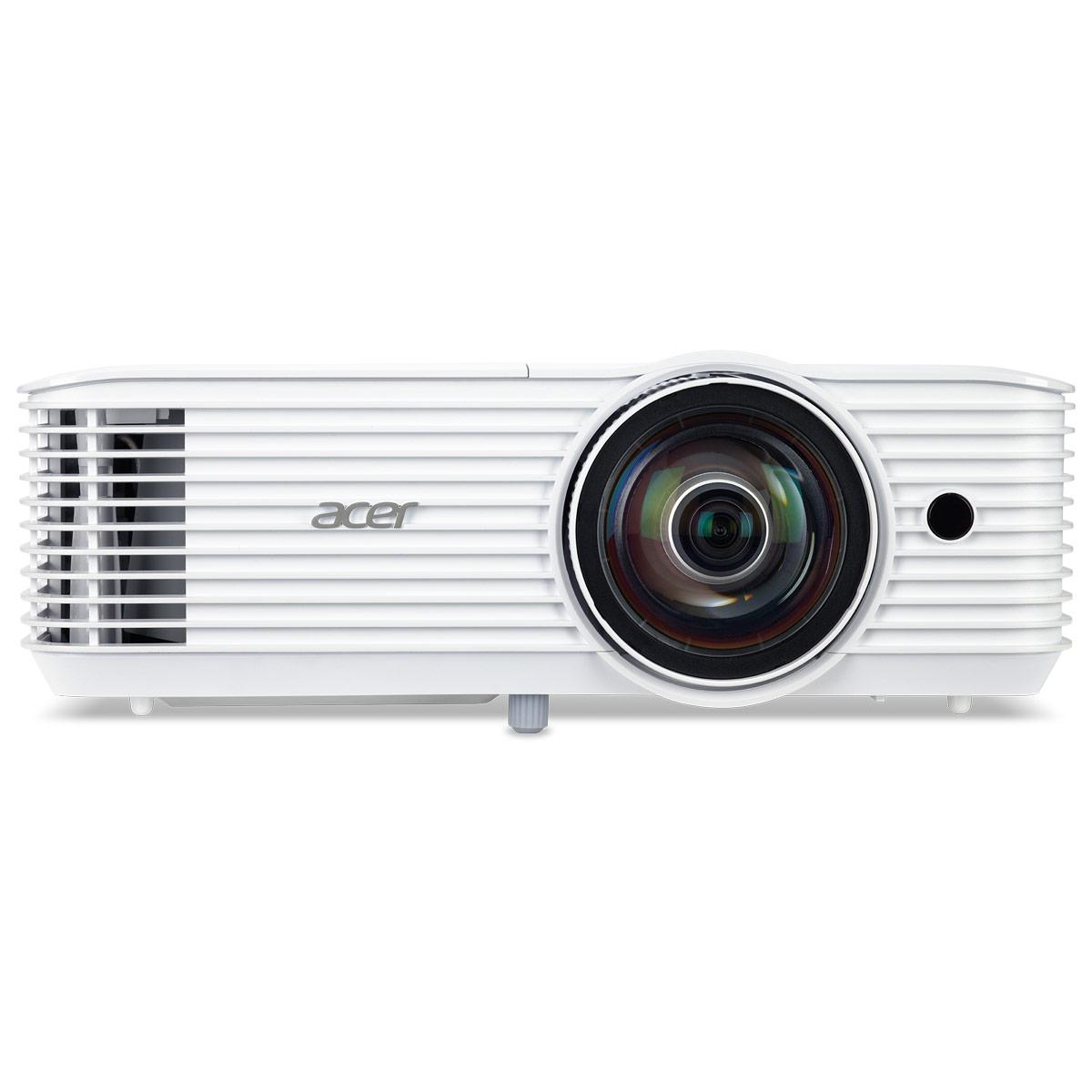 Vidéoprojecteur Acer S1386WHN Vidéoprojecteur DLP WXGA 3D 3600 Lumens - Focale courte - HDMI/MHL - Ethernet - Haut-parleur 16 Watts