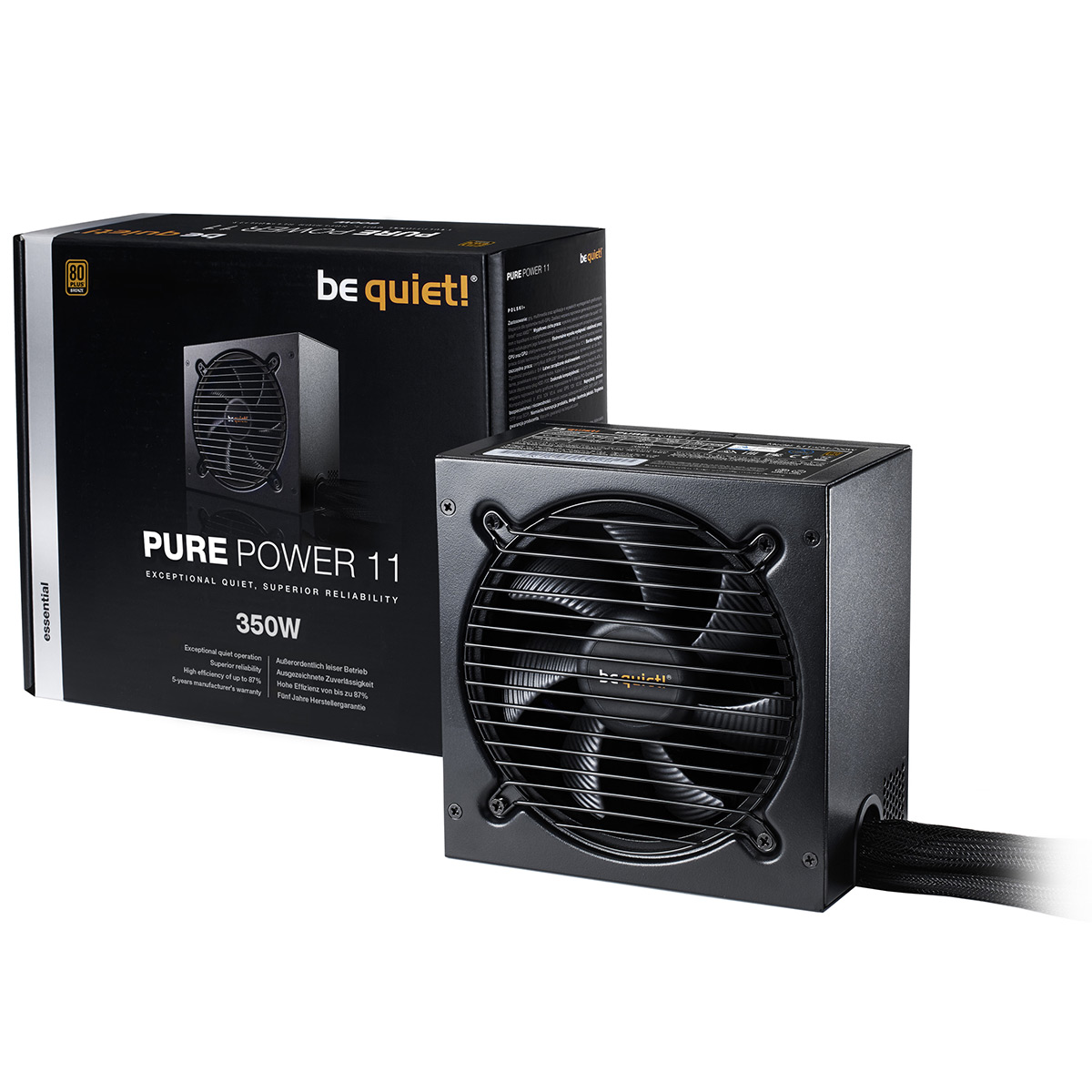 Alimentation PC be quiet! Pure Power 11 350W 80PLUS Bronze Alimentation 350W ATX 12V 2.4 (Garantie 5 ans constructeur) - 80PLUS Bronze