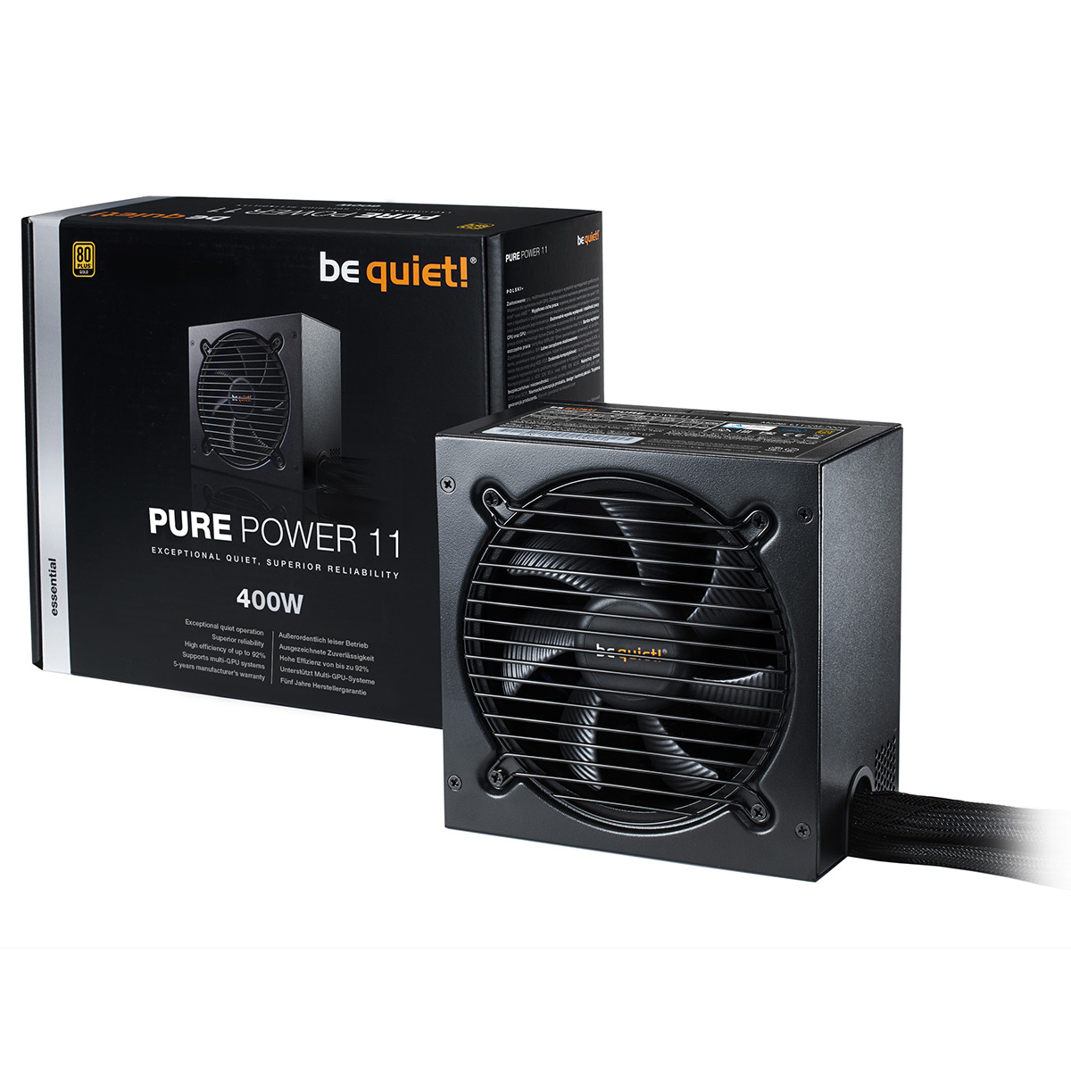 Alimentation PC be quiet! Pure Power 11 400W 80PLUS Gold Alimentation 400W ATX 12V 2.4 (Garantie 5 ans constructeur) - 80PLUS Gold