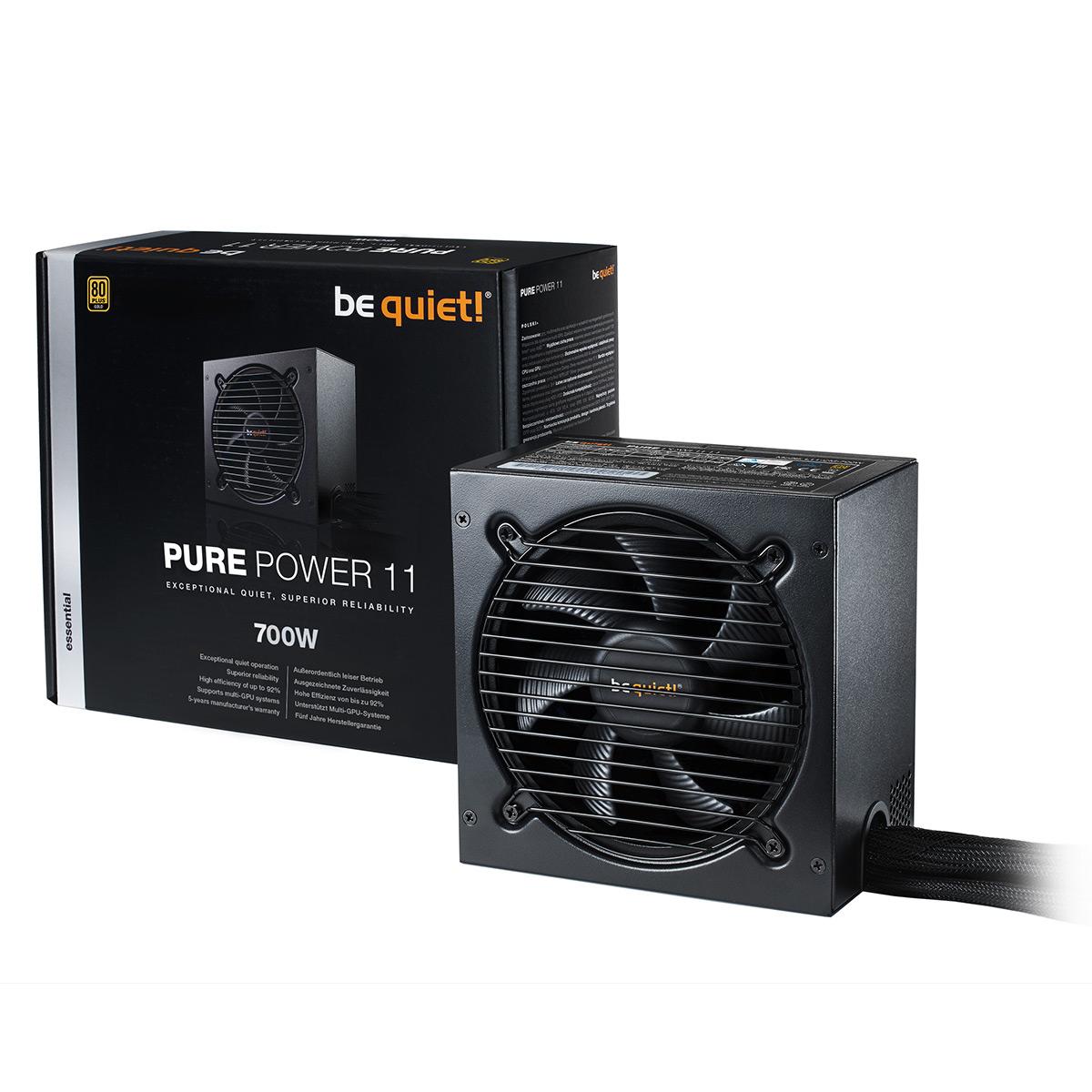 Alimentation PC be quiet! Pure Power 11 700W 80PLUS Gold Alimentation 700W ATX 12V 2.4 (Garantie 5 ans constructeur) - 80PLUS Gold