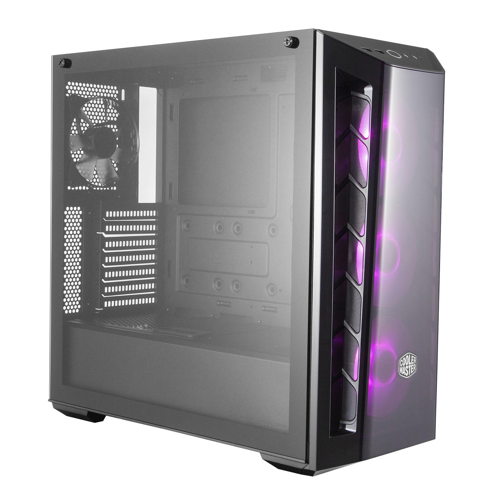 Boîtier PC Cooler Master MasterBox MB520 RGB Boîtier moyen tour avec fenêtre latérale en verre trempé et ventilateurs RGB