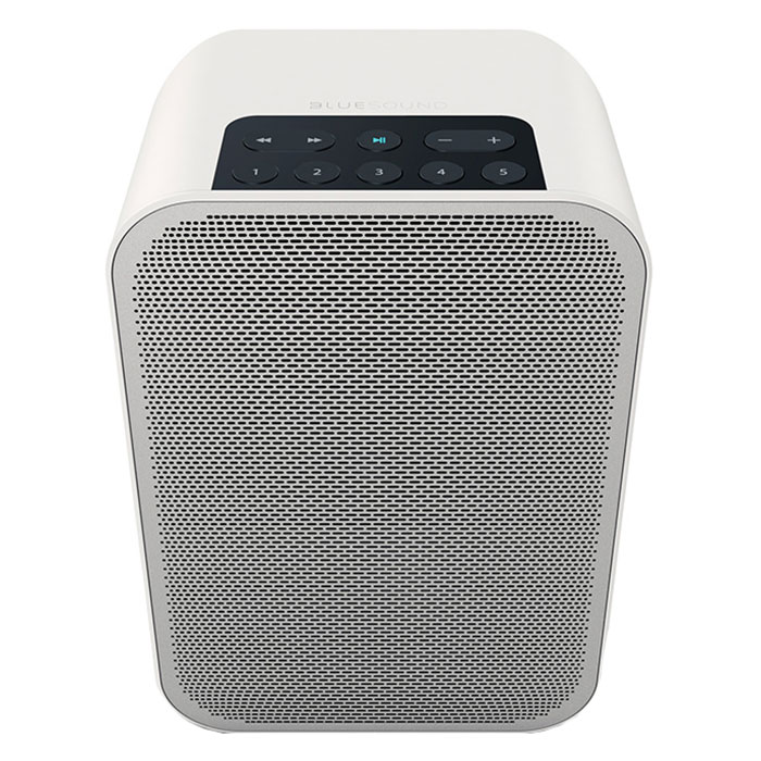 Dock & Enceinte Bluetooth Bluesound Pulse Flex 2i Blanc Système audio multiroom avec Wi-Fi, Bluetooth pour Streaming audio et Web radio compatible Hi-Res Audio / AirPlay 2 / Alexa